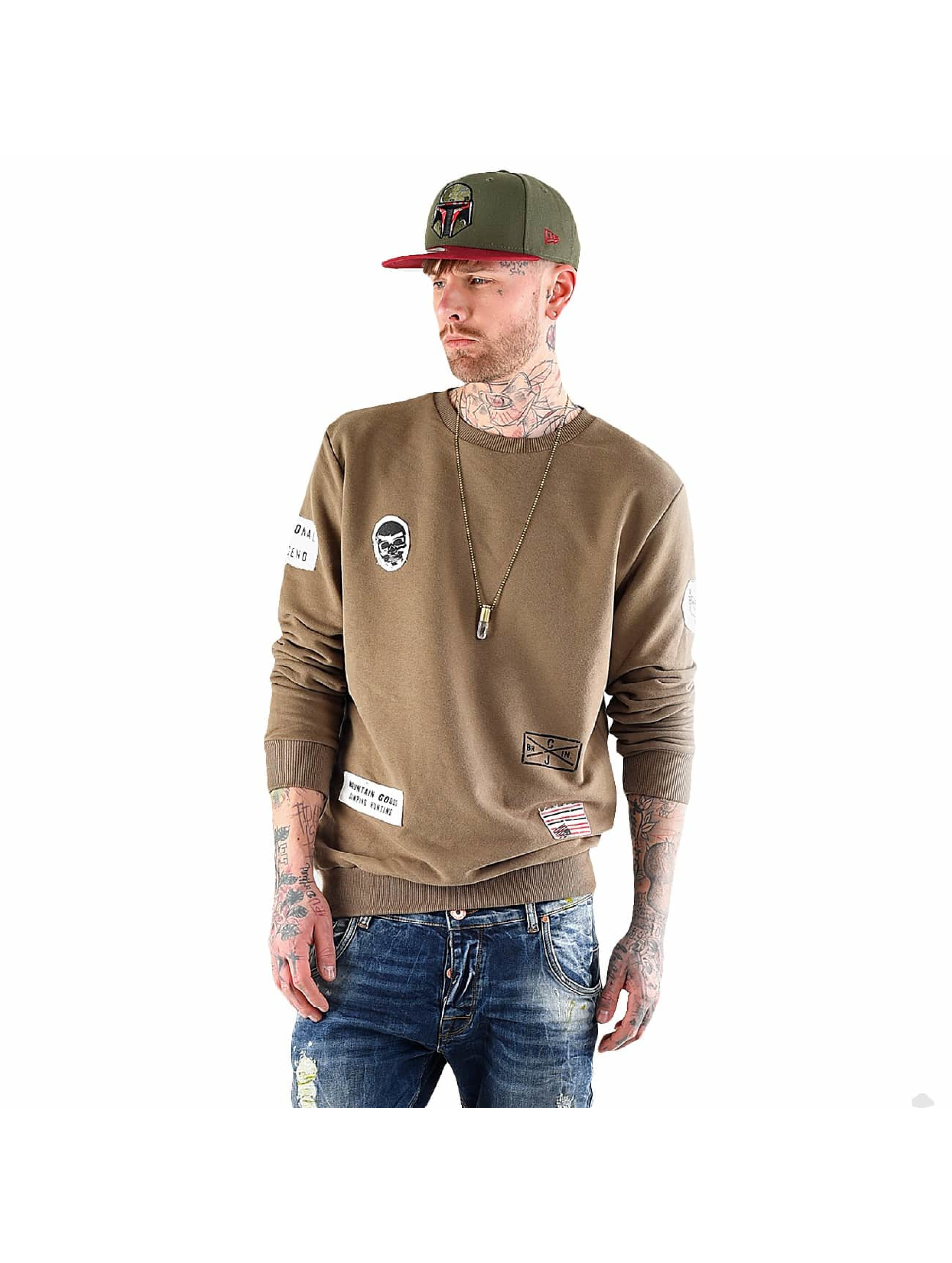 VSCT Clubwear Swetry Customized Patch Crew khaki