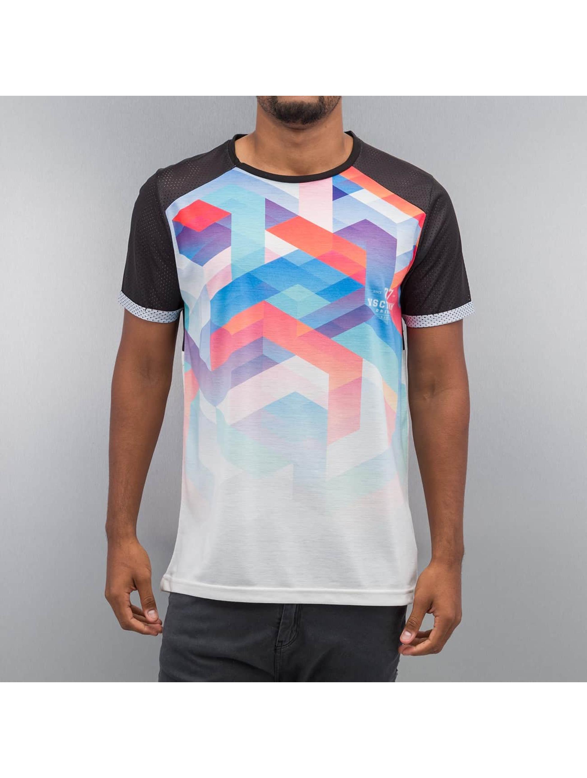 VSCT Clubwear T-paidat Geo Maze Fade musta