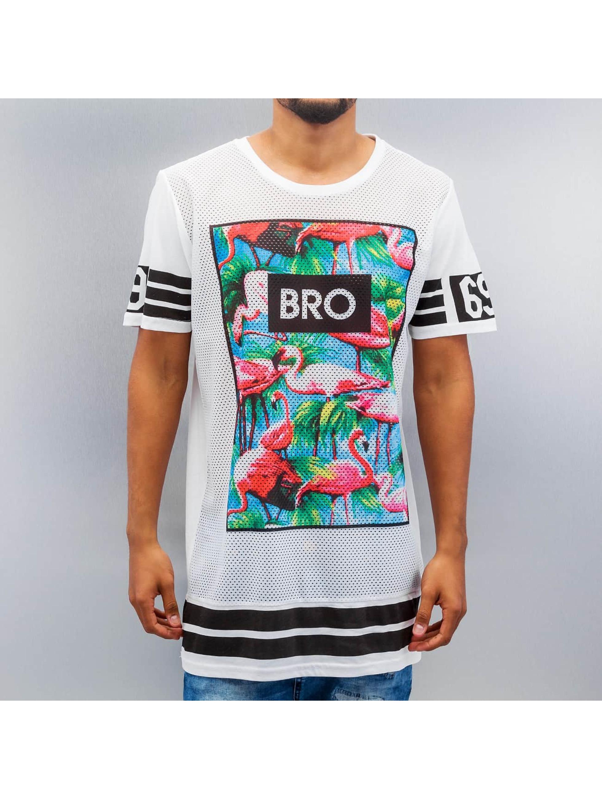 VSCT Clubwear T-Shirt Flamingo Bro Oversize blanc