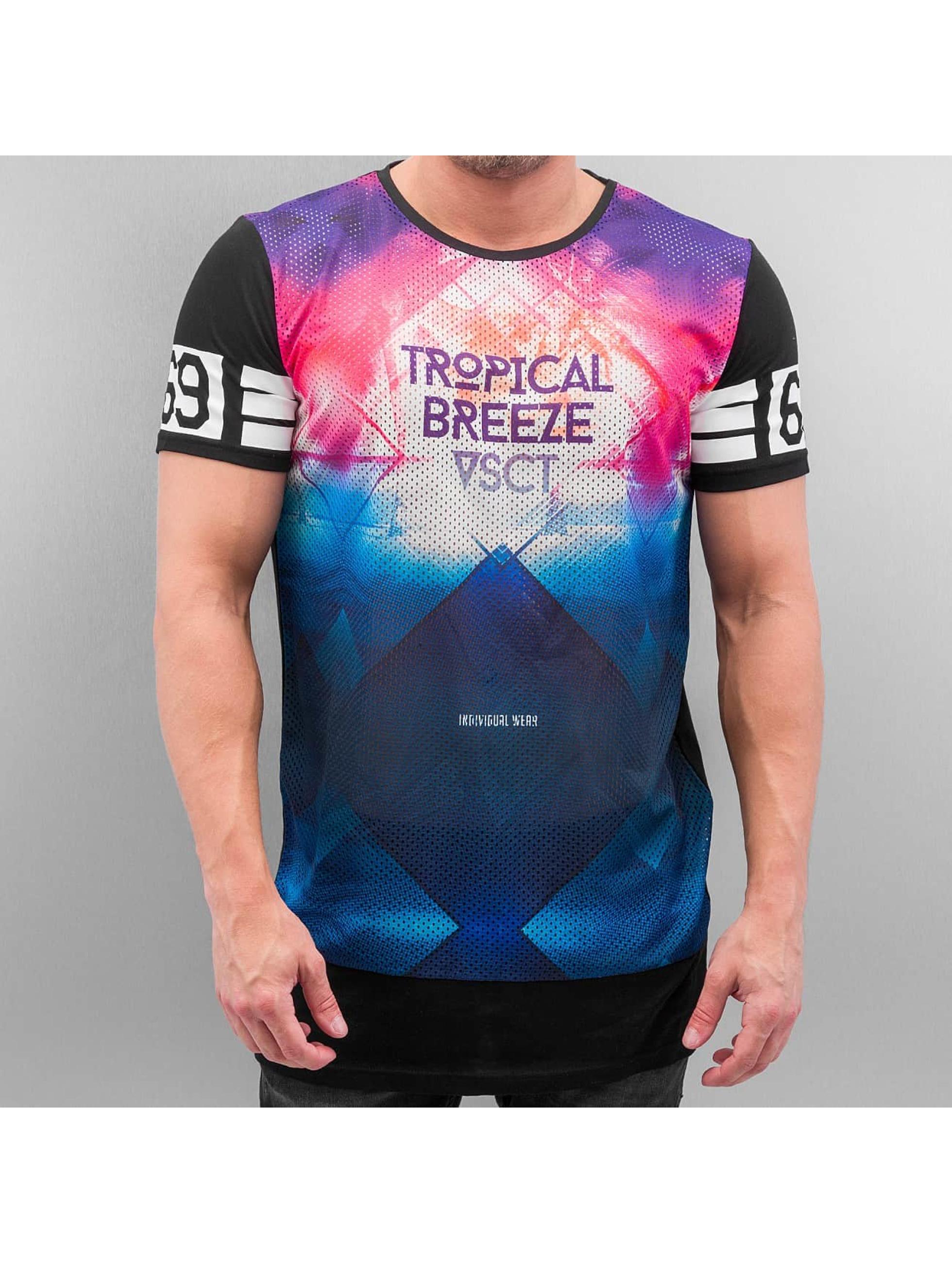 VSCT Clubwear T-Shirt Tropical Breeze Mix schwarz