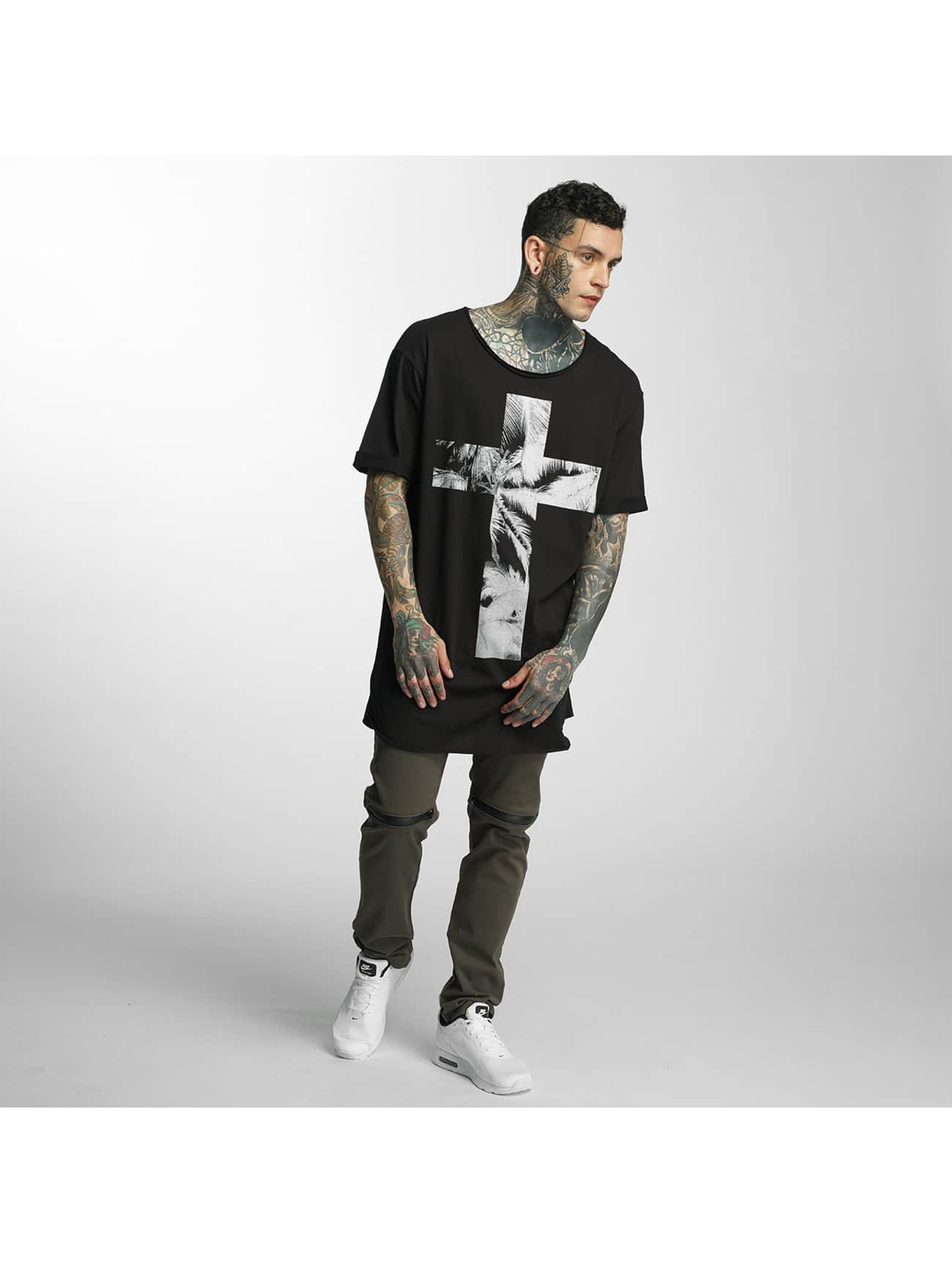 VSCT Clubwear T-Shirty Cross Palm Loose czarny