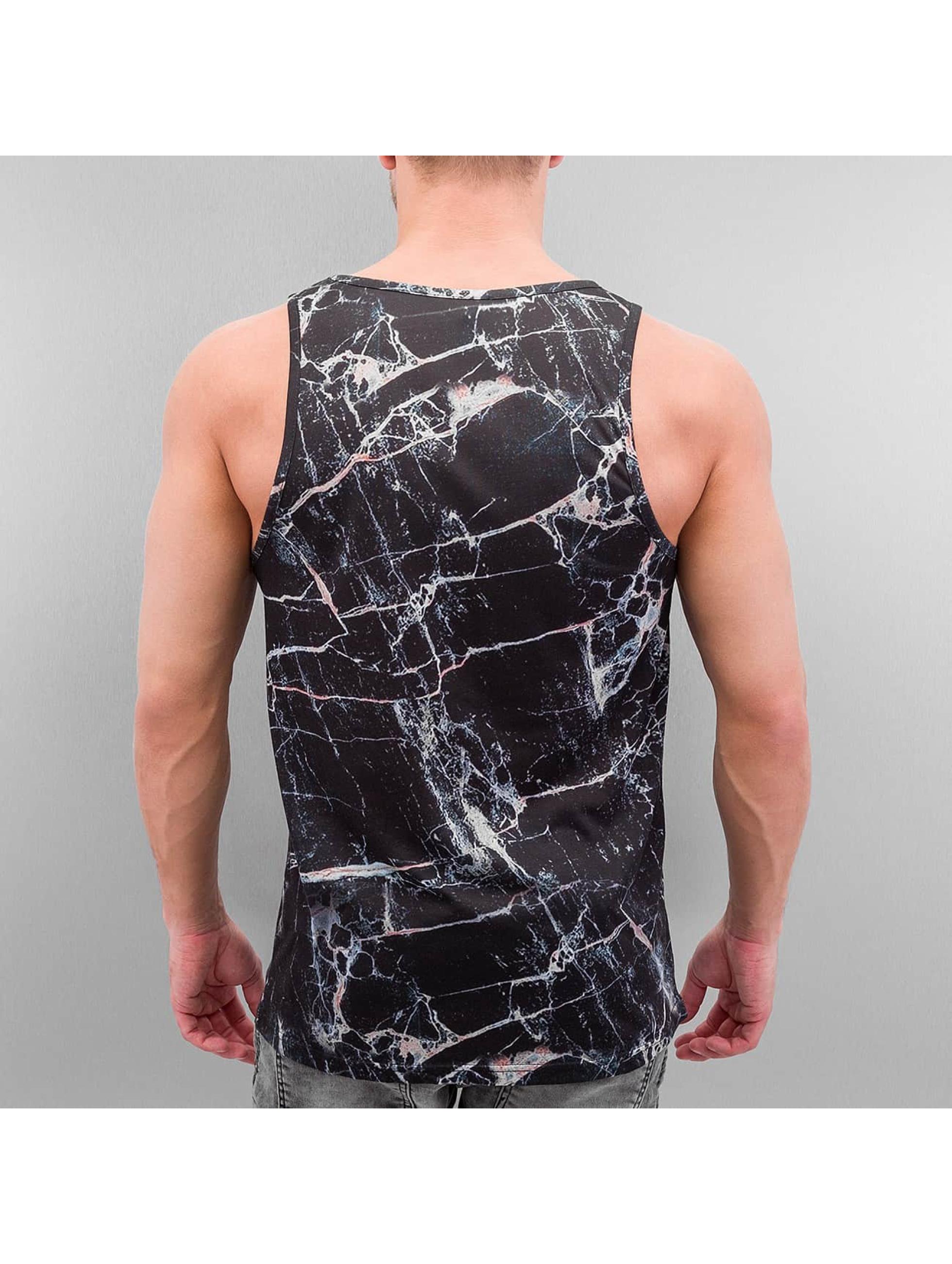 VSCT Clubwear Tank Tops Black Marble Tank schwarz