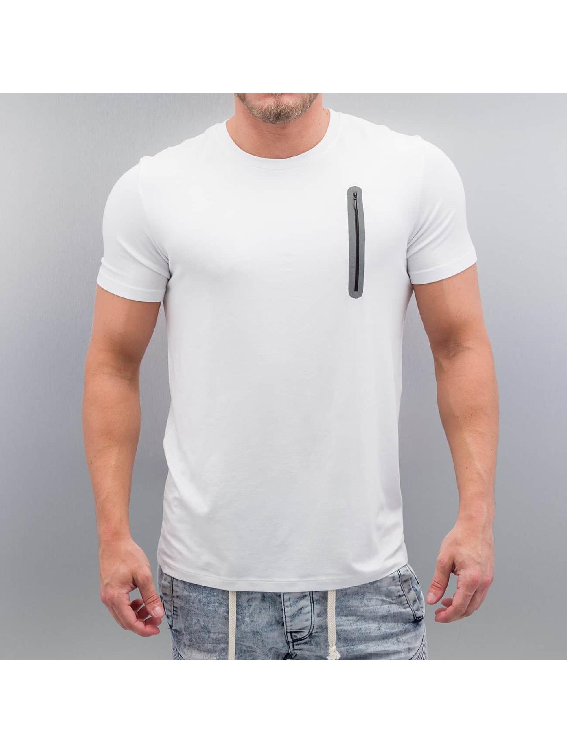 VSCT Clubwear Tričká Zip Pocket biela