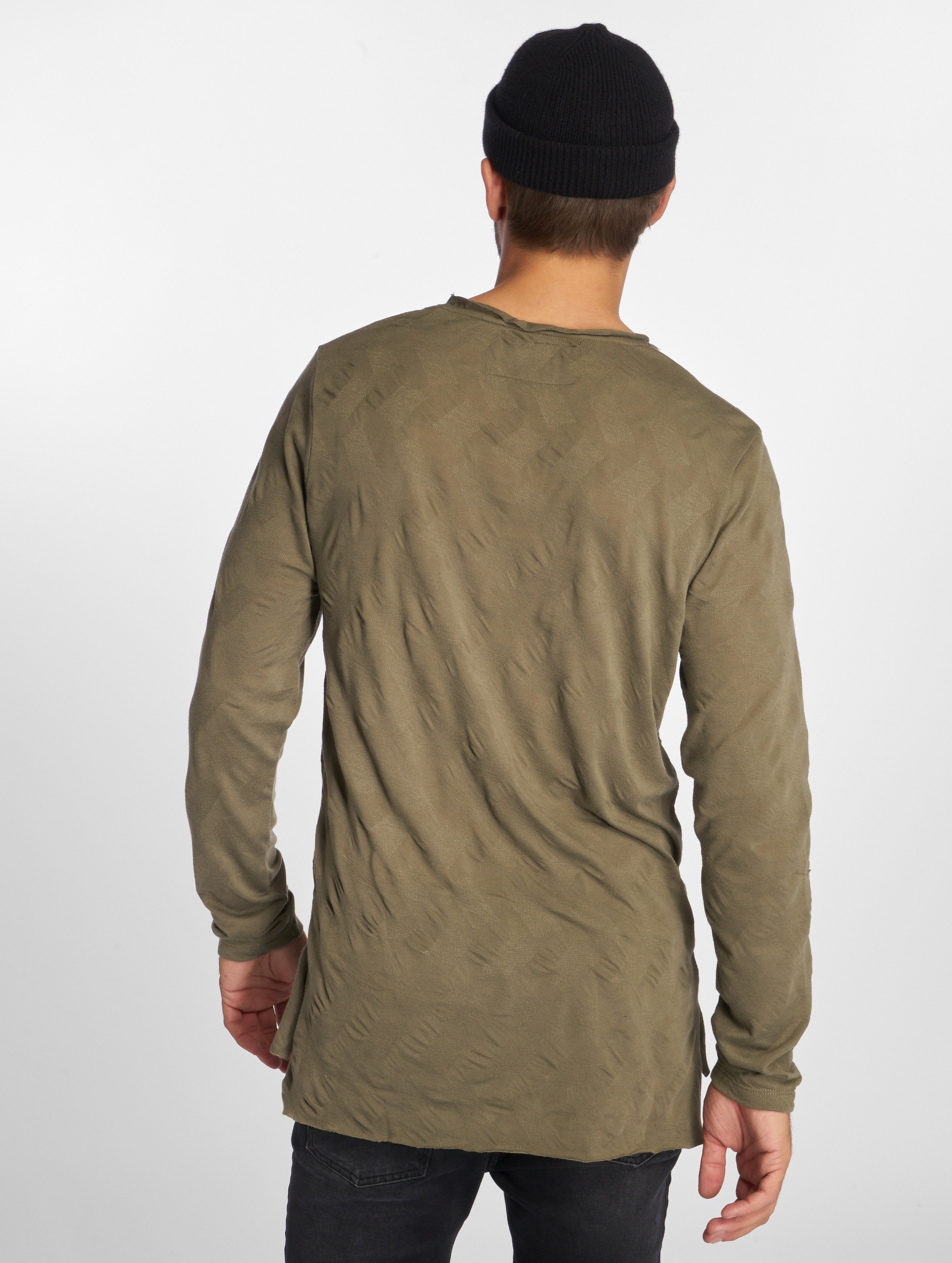 VSCT Clubwear Tričká dlhý rukáv Wave kaki
