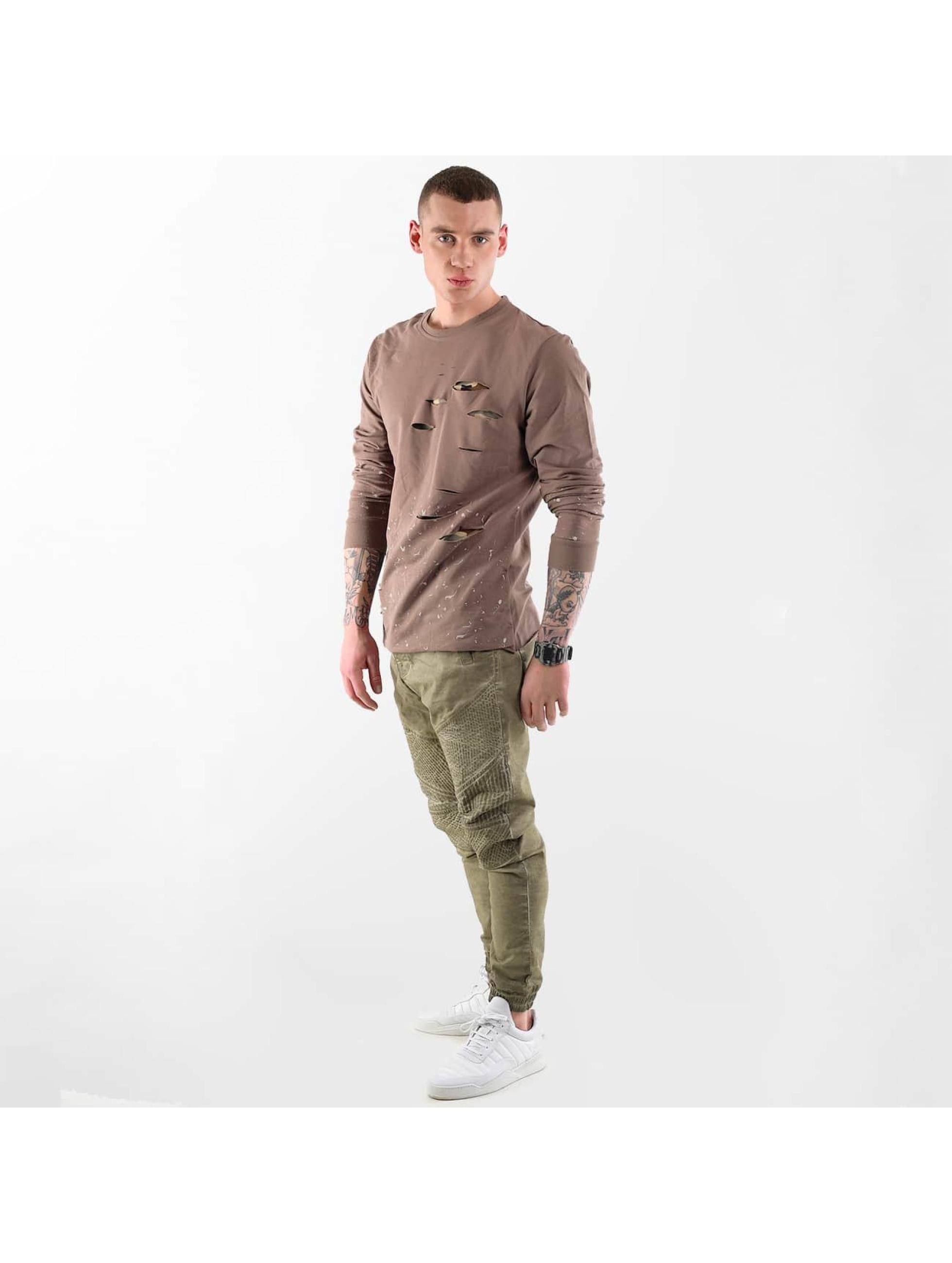 VSCT Clubwear trui Slashed bruin