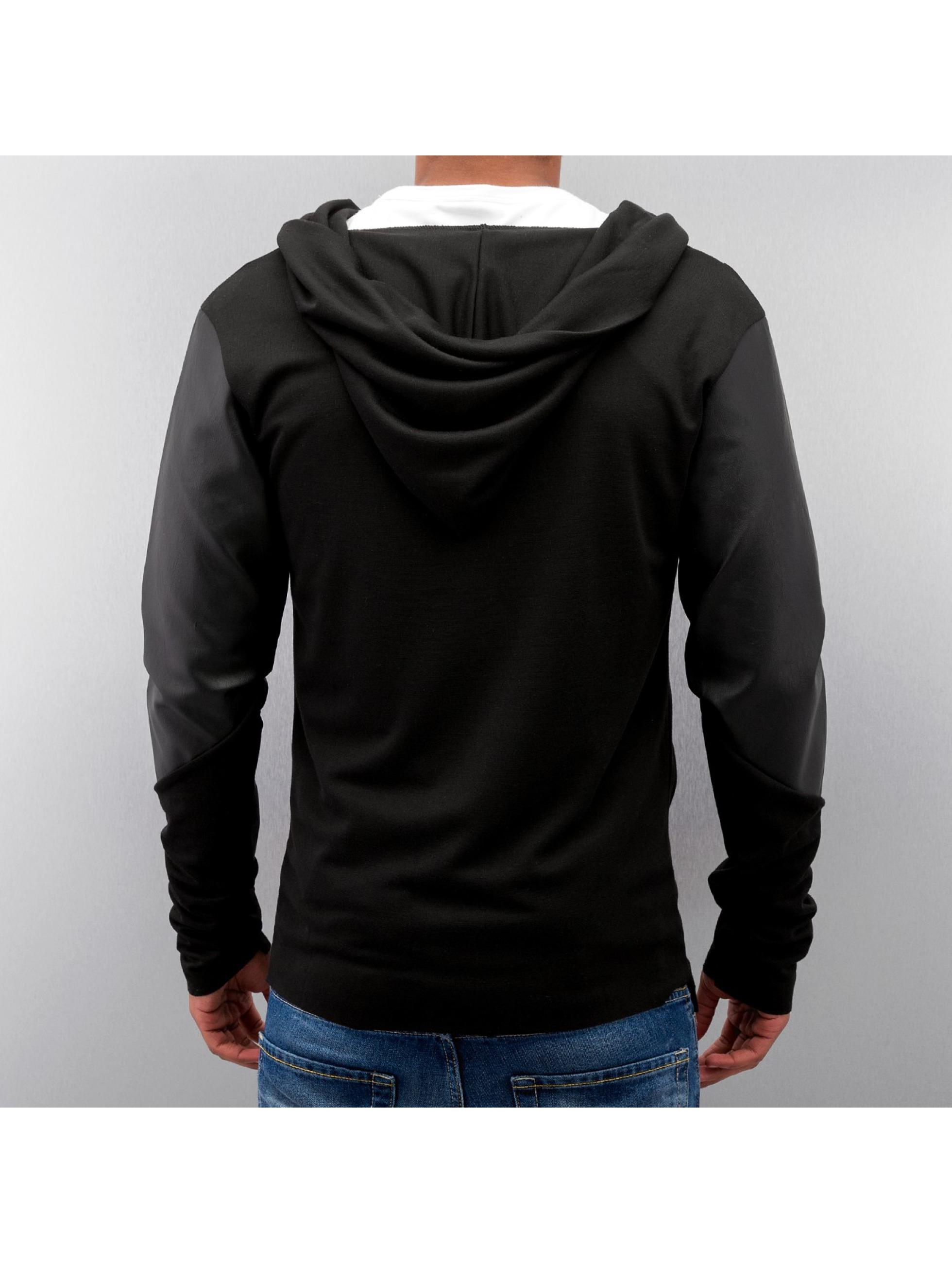 VSCT Clubwear Übergangsjacke Hooded Asymmetric schwarz