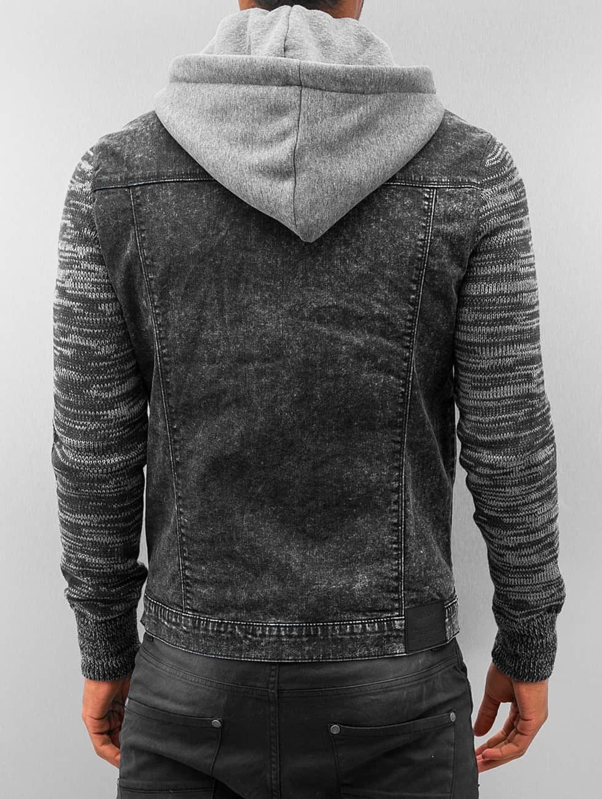 VSCT Clubwear Übergangsjacke Hybrid Denim schwarz