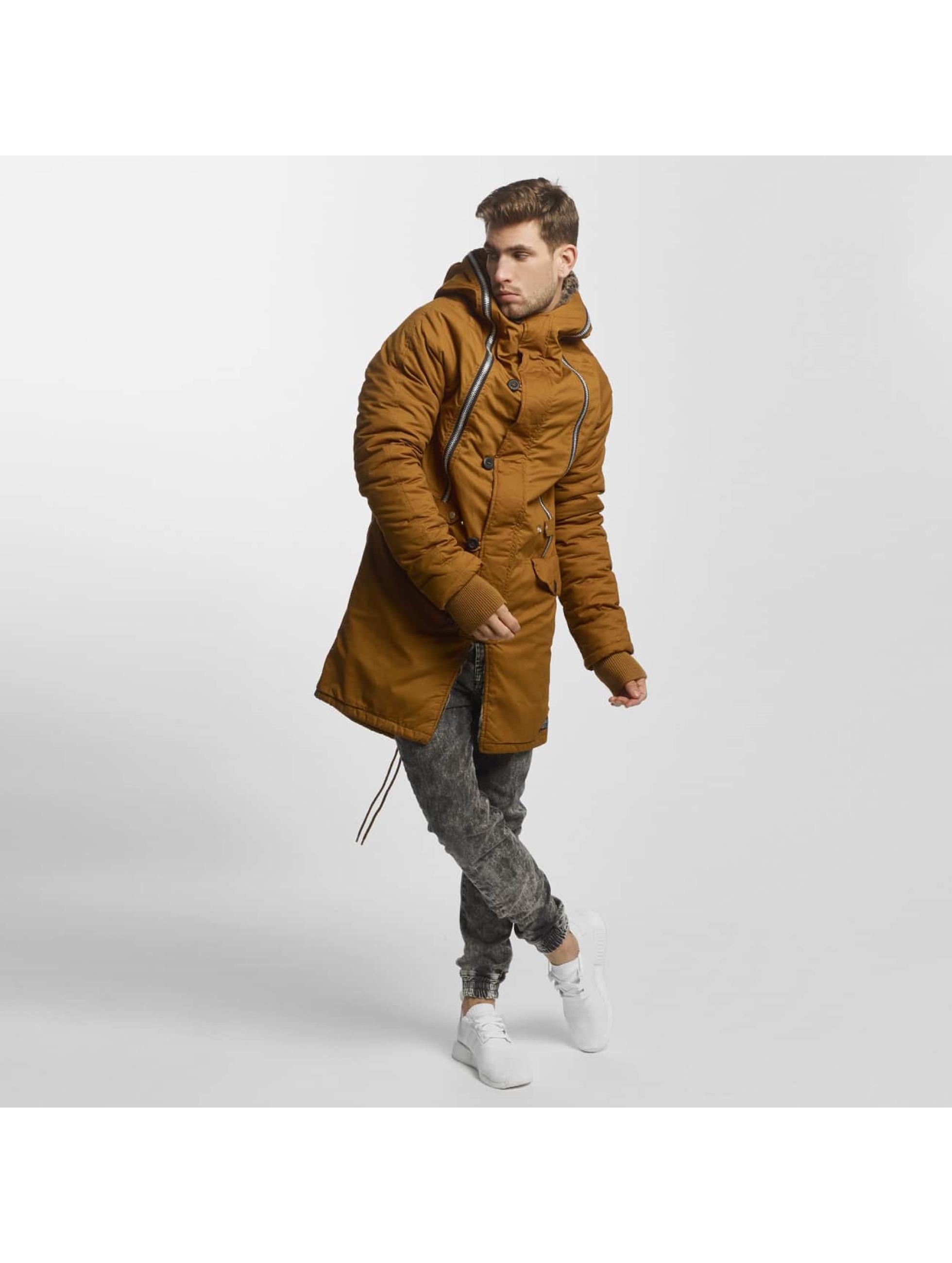 VSCT Clubwear Vinterjakke Double-Zipper Huge Luxury brun