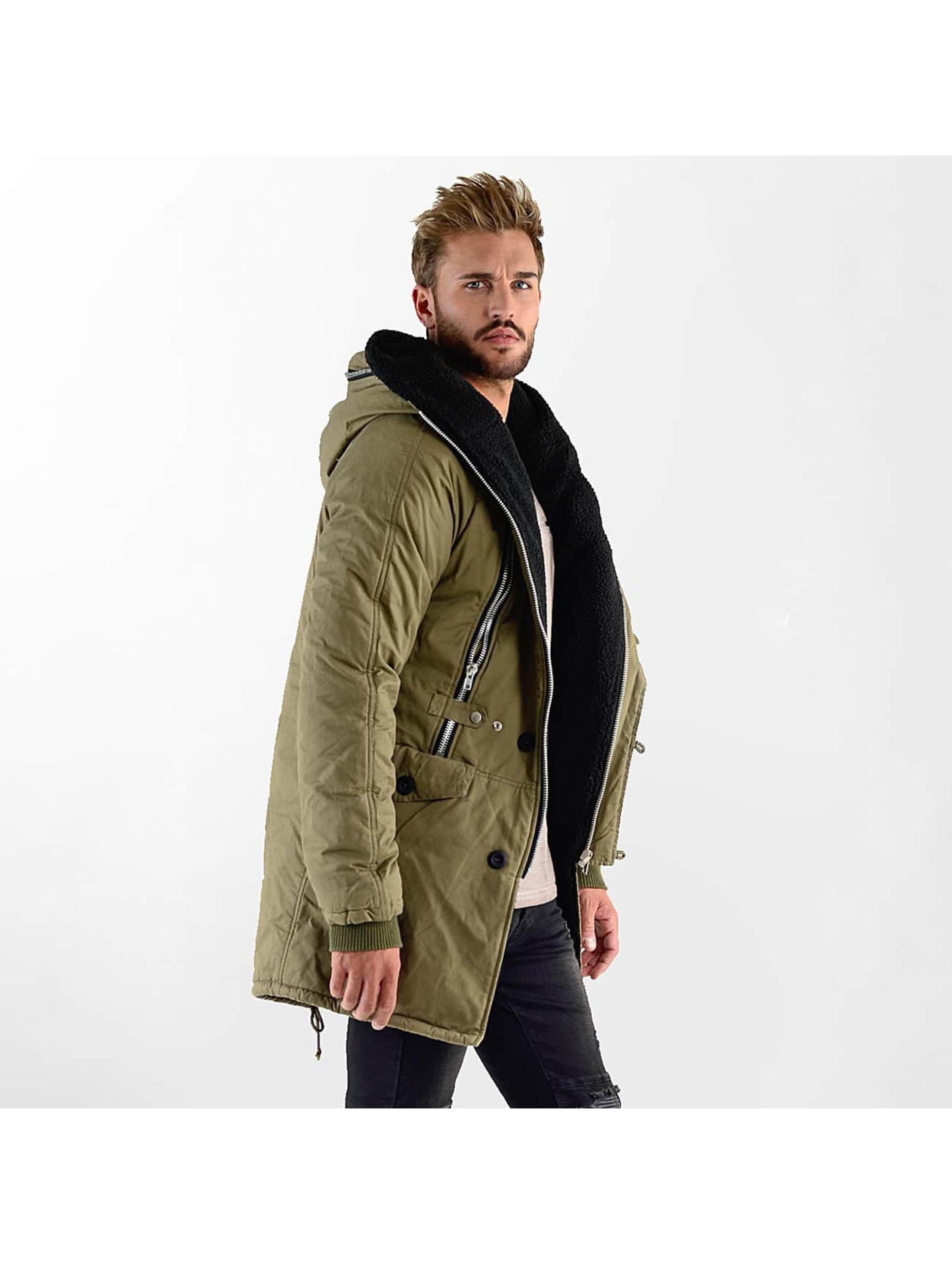 VSCT Clubwear Vinterjakke Double-Zipper Huge Luxury Sherpa khaki