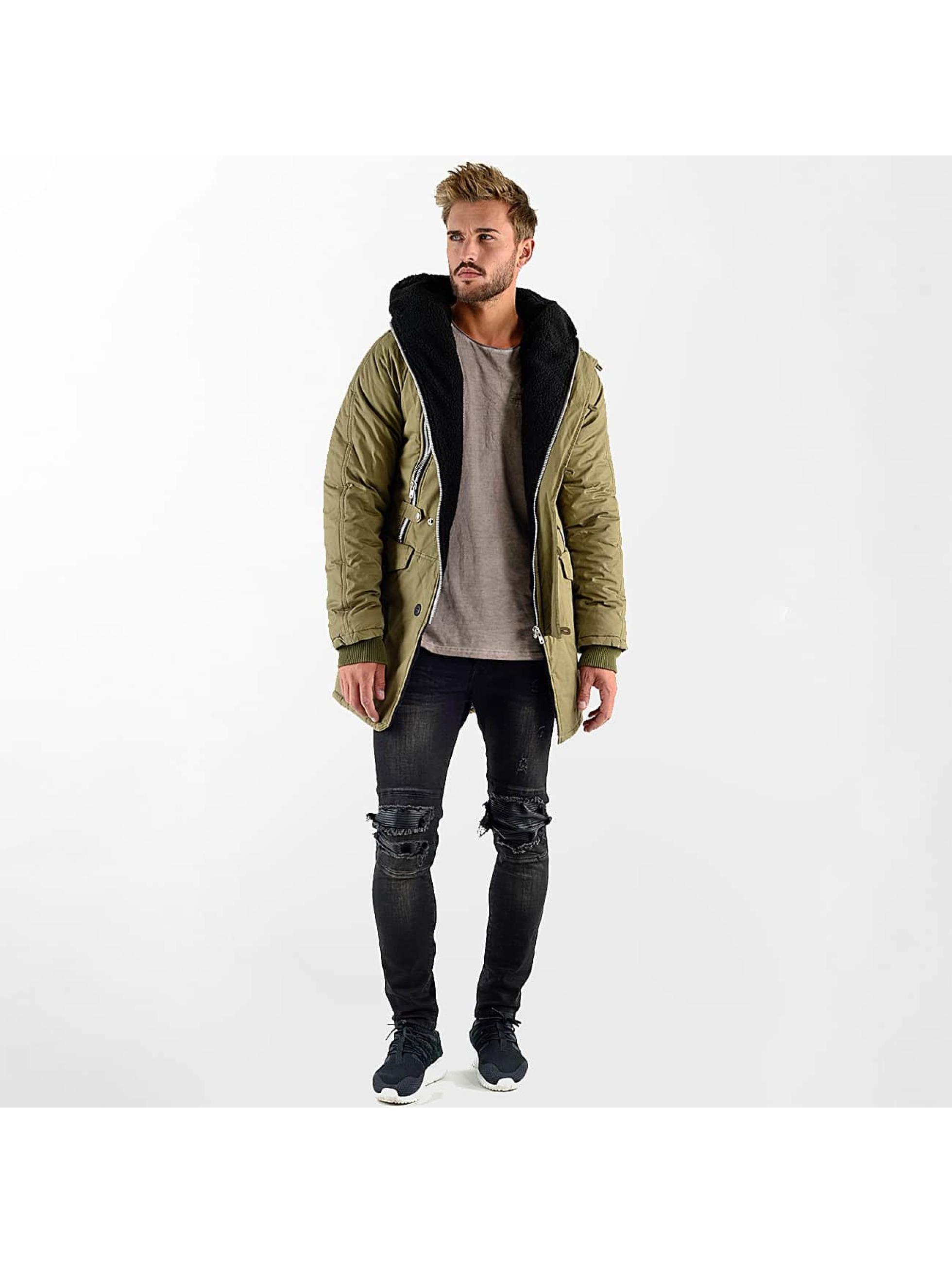 VSCT Clubwear winterjas Double-Zipper Huge Luxury Sherpa khaki