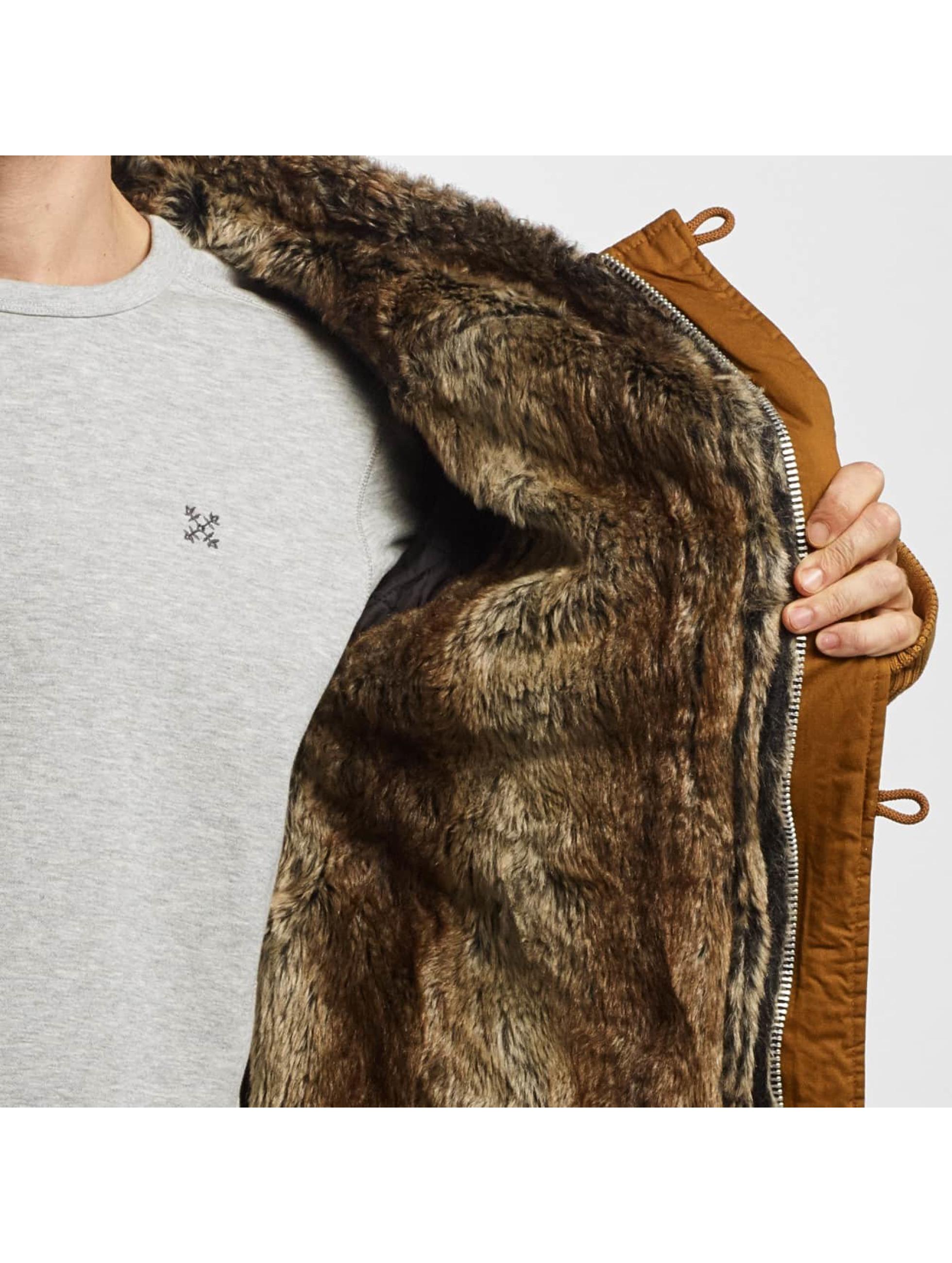 VSCT Clubwear Zimné bundy Double-Zipper Huge Luxury hnedá