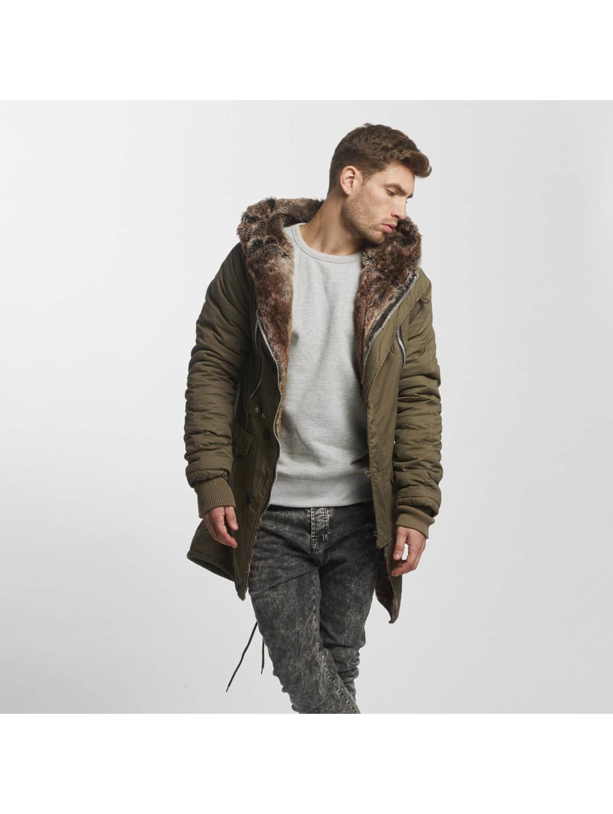 VSCT Clubwear Zimné bundy Double-Zipper kaki