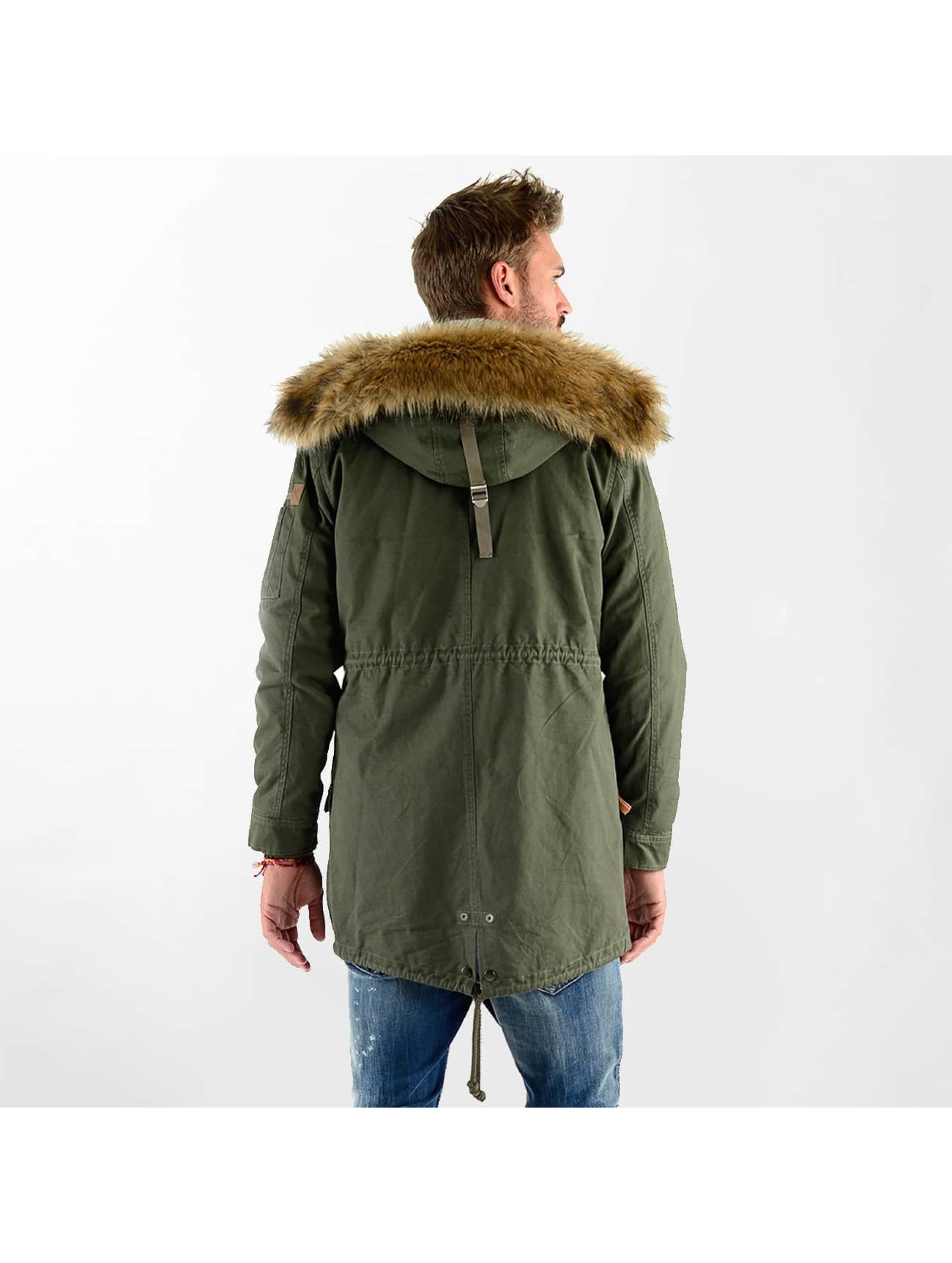 VSCT Clubwear Zimné bundy Luxury Parka olivová