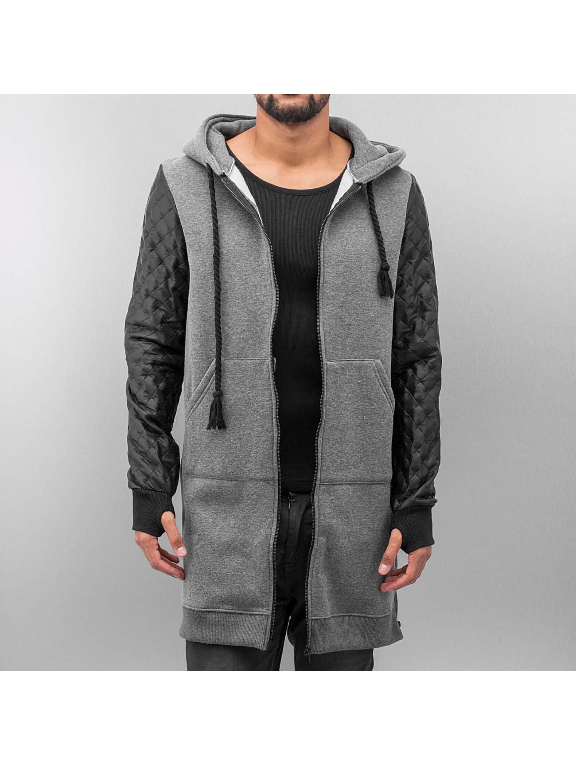 VSCT Clubwear Zip Hoodie Xtended серый