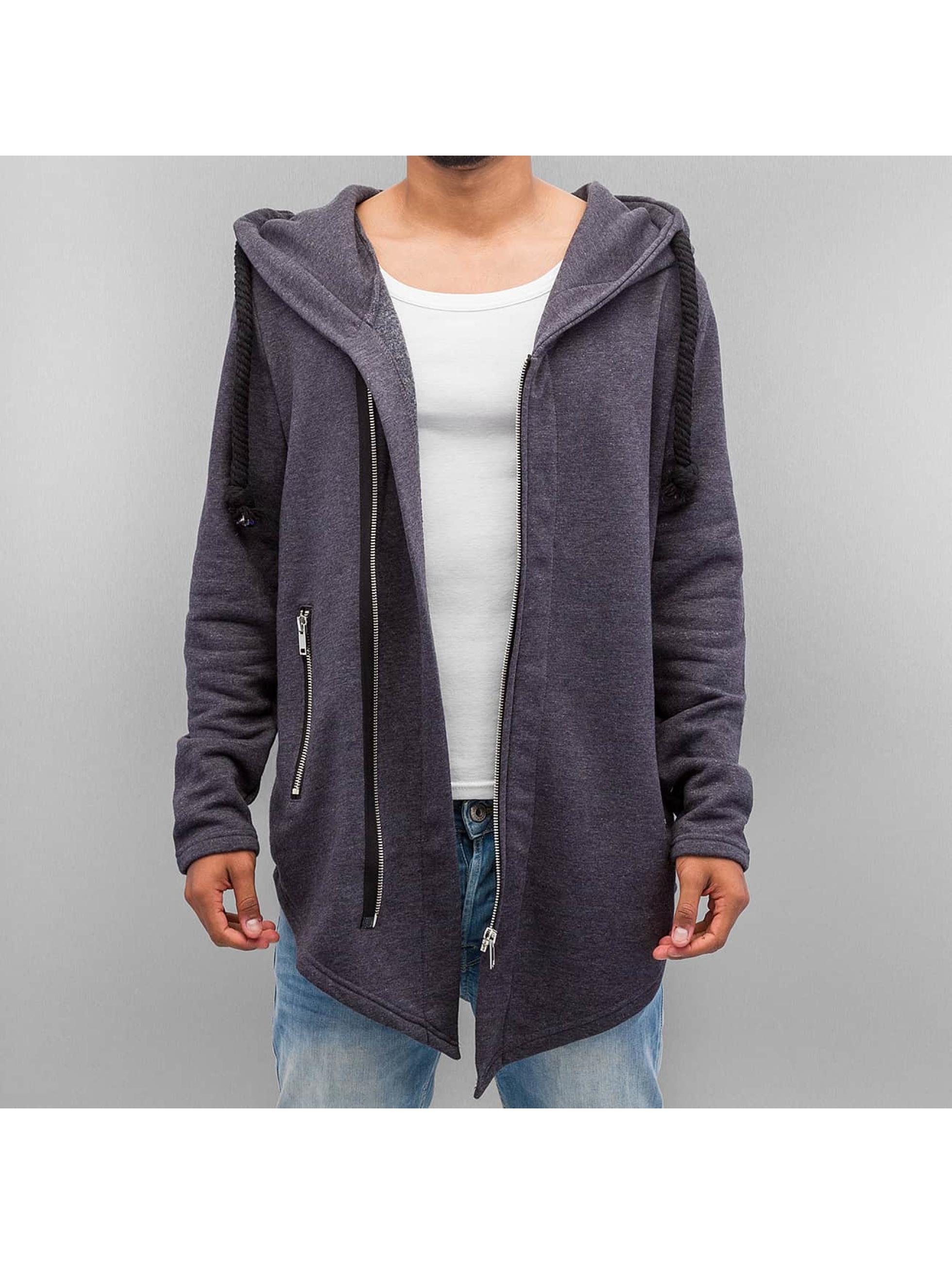 VSCT Clubwear Zip Hoodie Hooded Luxury Asym Sweat серый