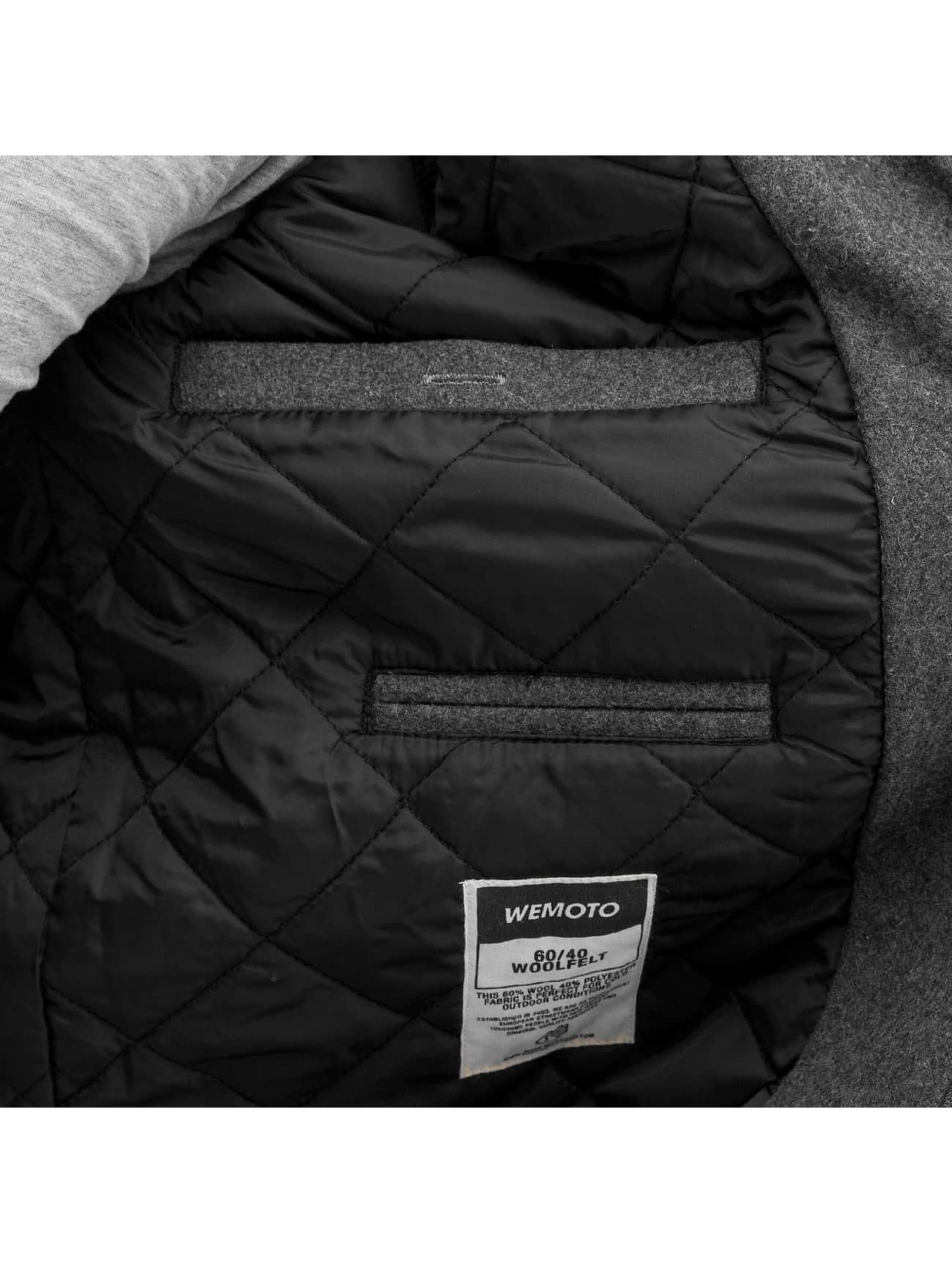 Wemoto Куртка-бомбардир Lamar Wool серый