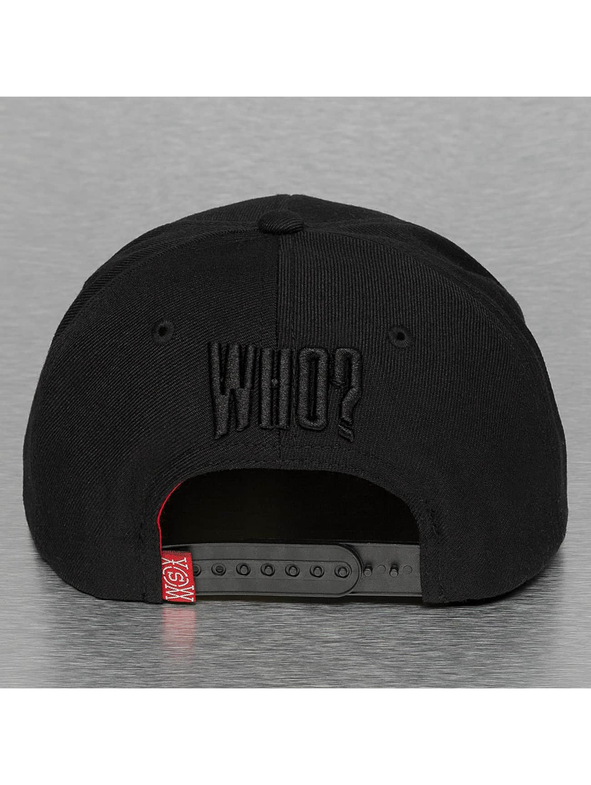 Who Shot Ya? Snapback Caps WHO? czarny