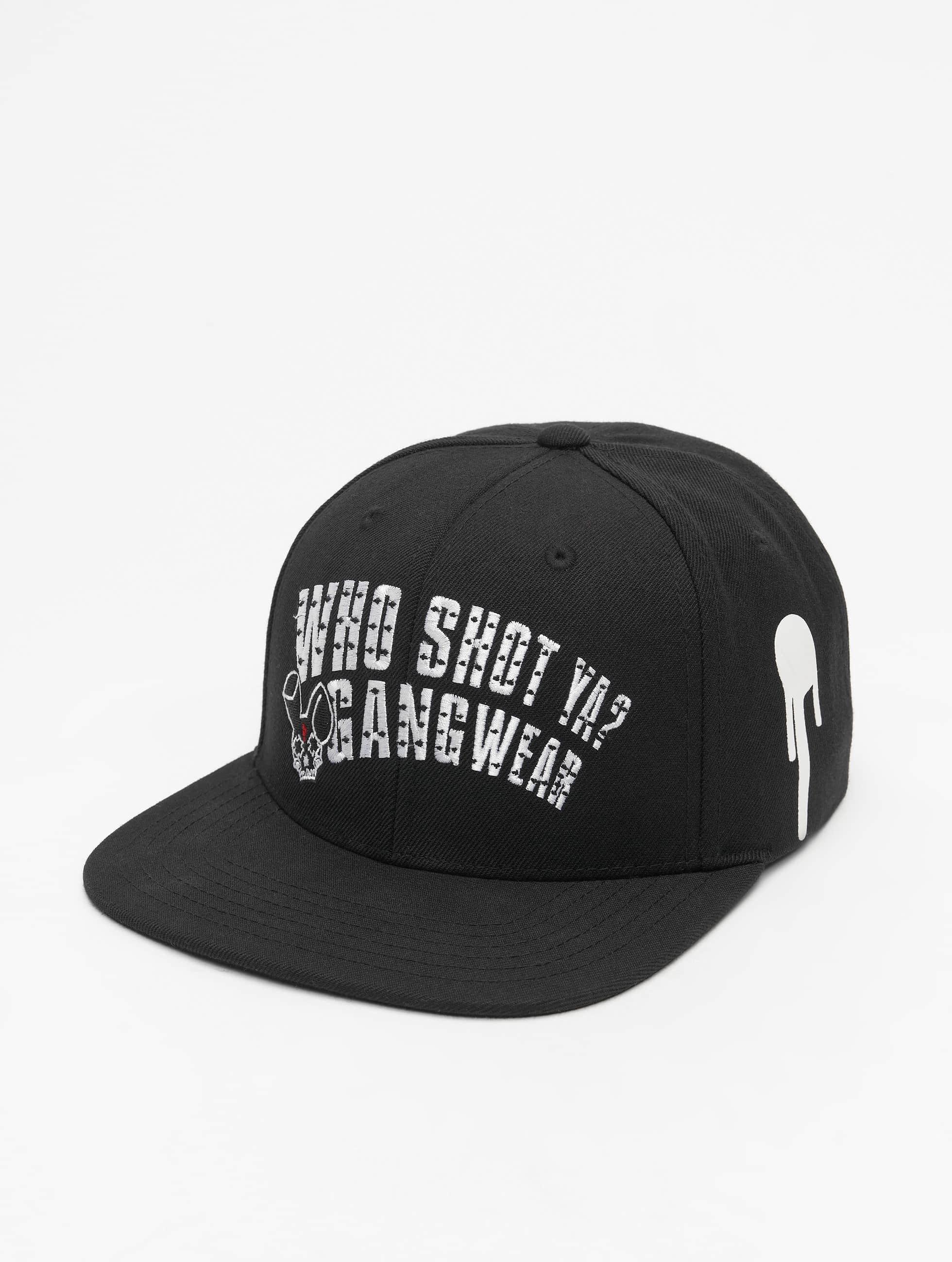 Who Shot Ya? Snapback Caps Gangwear svart