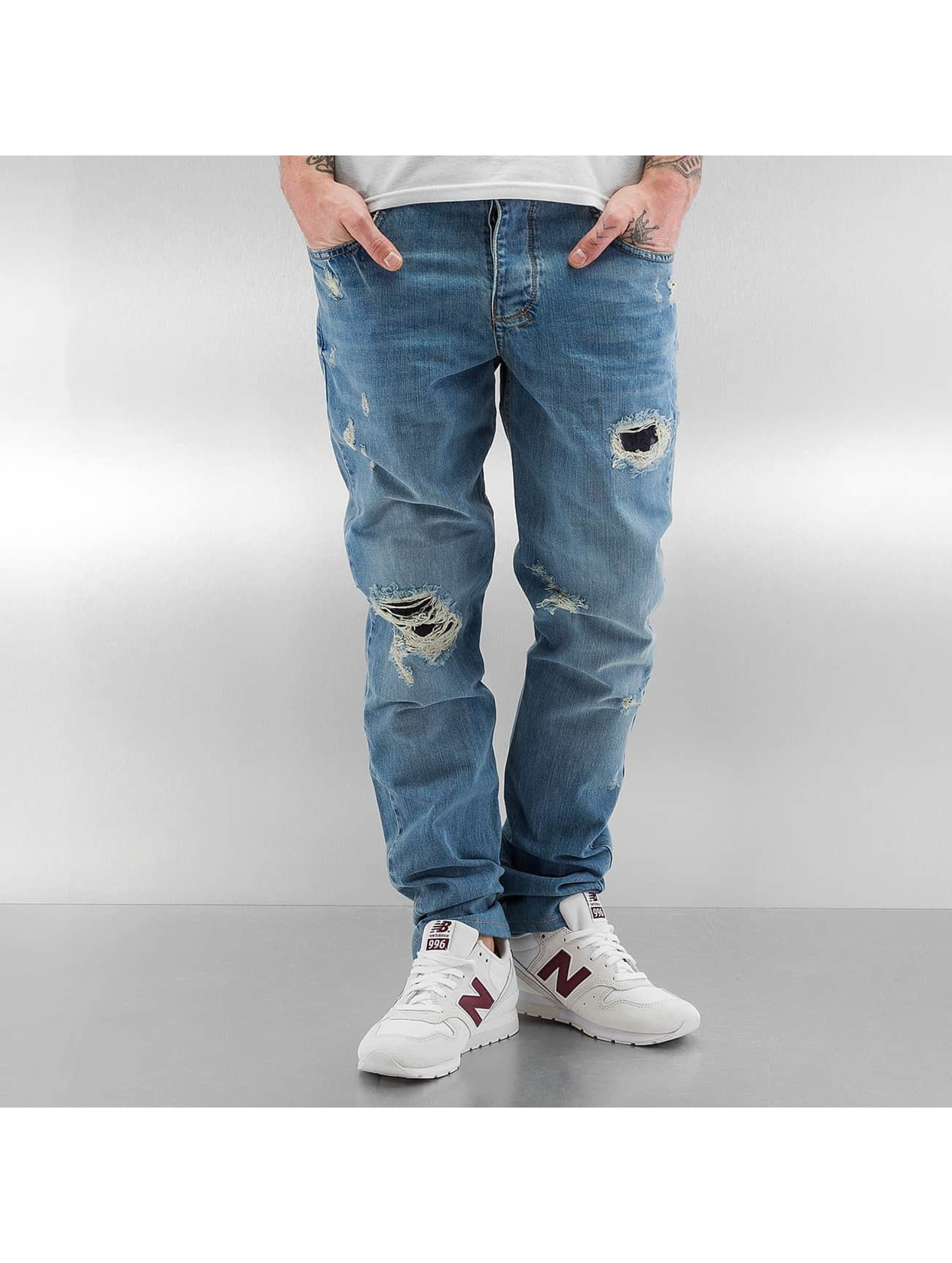 Who Shot Ya? Straight Fit Jeans Used blå