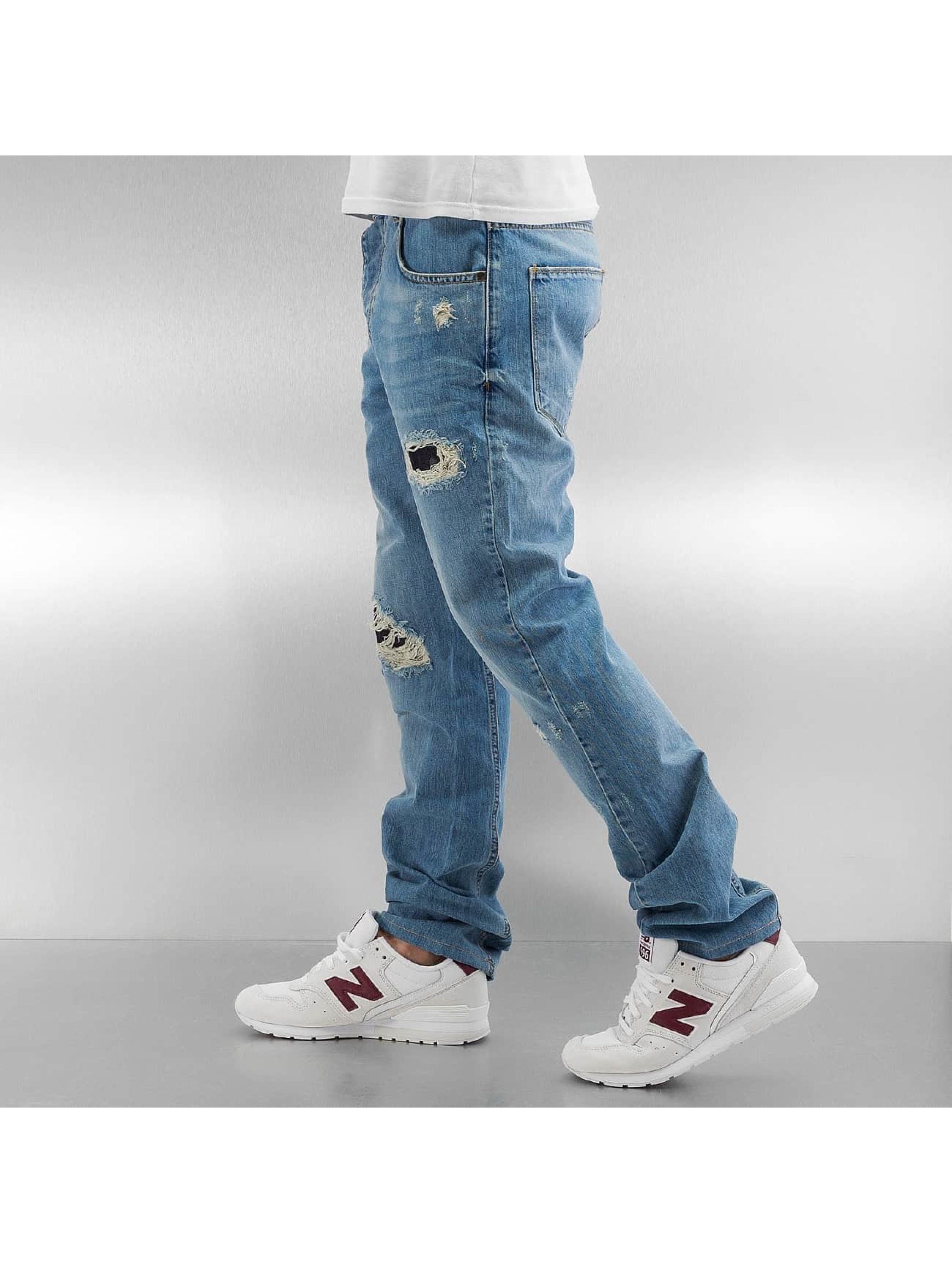 Who Shot Ya? Straight Fit Jeans Used blau