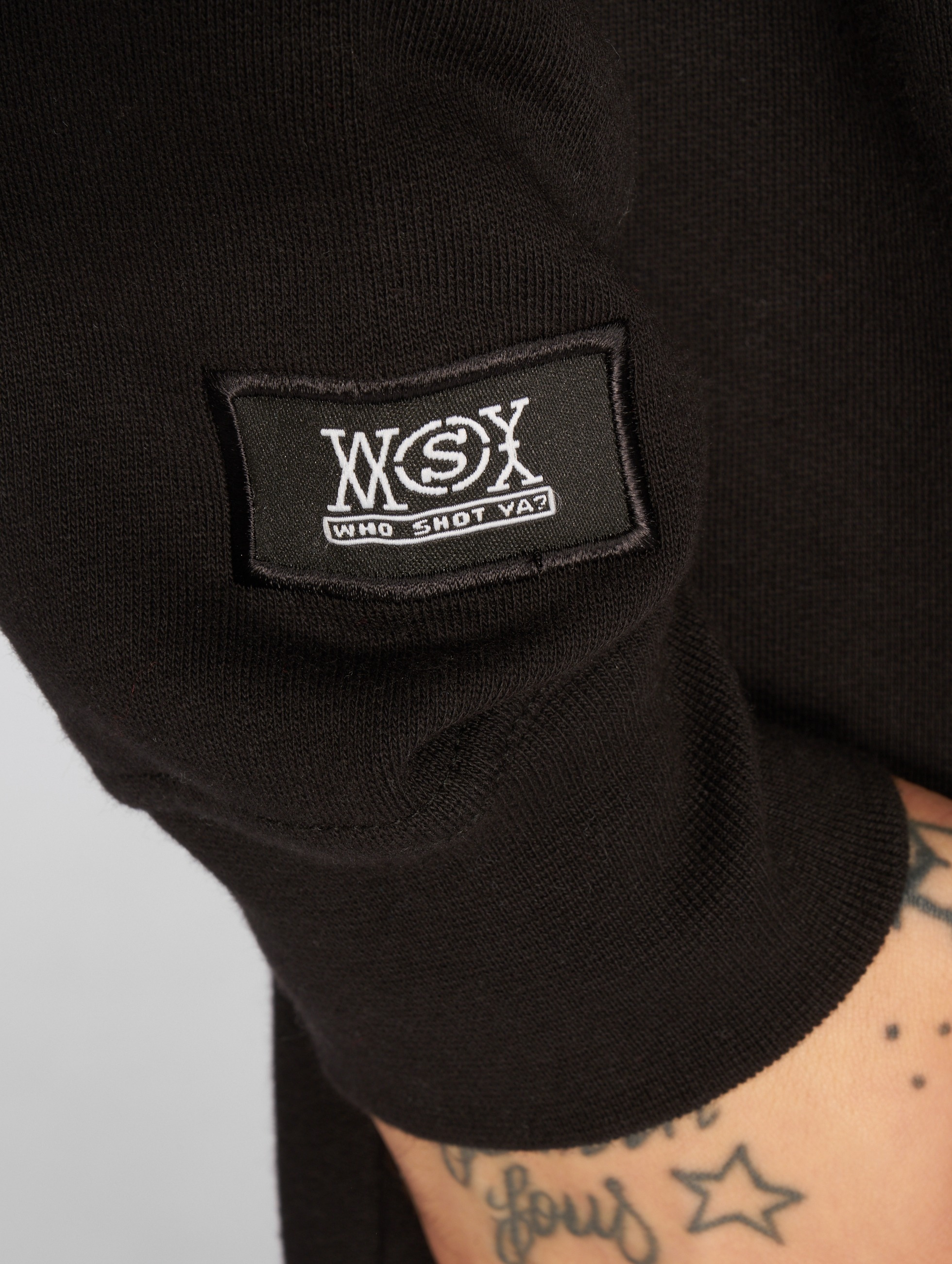 Who Shot Ya? Sweat capuche Logo noir
