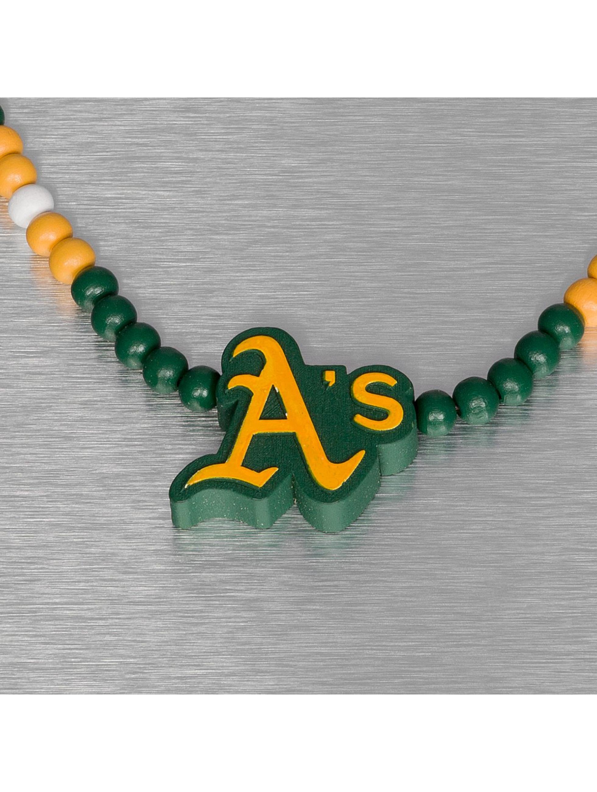 Wood Fellas Цепочка MLB Oakland Athletics Team зеленый