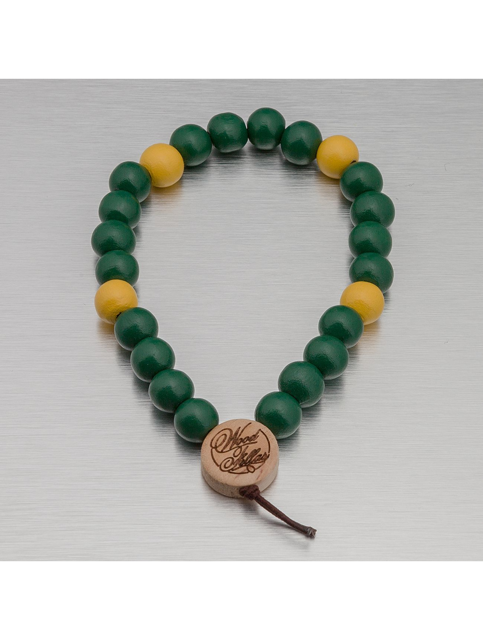 Wood Fellas Armband Deluxe Pearl grün