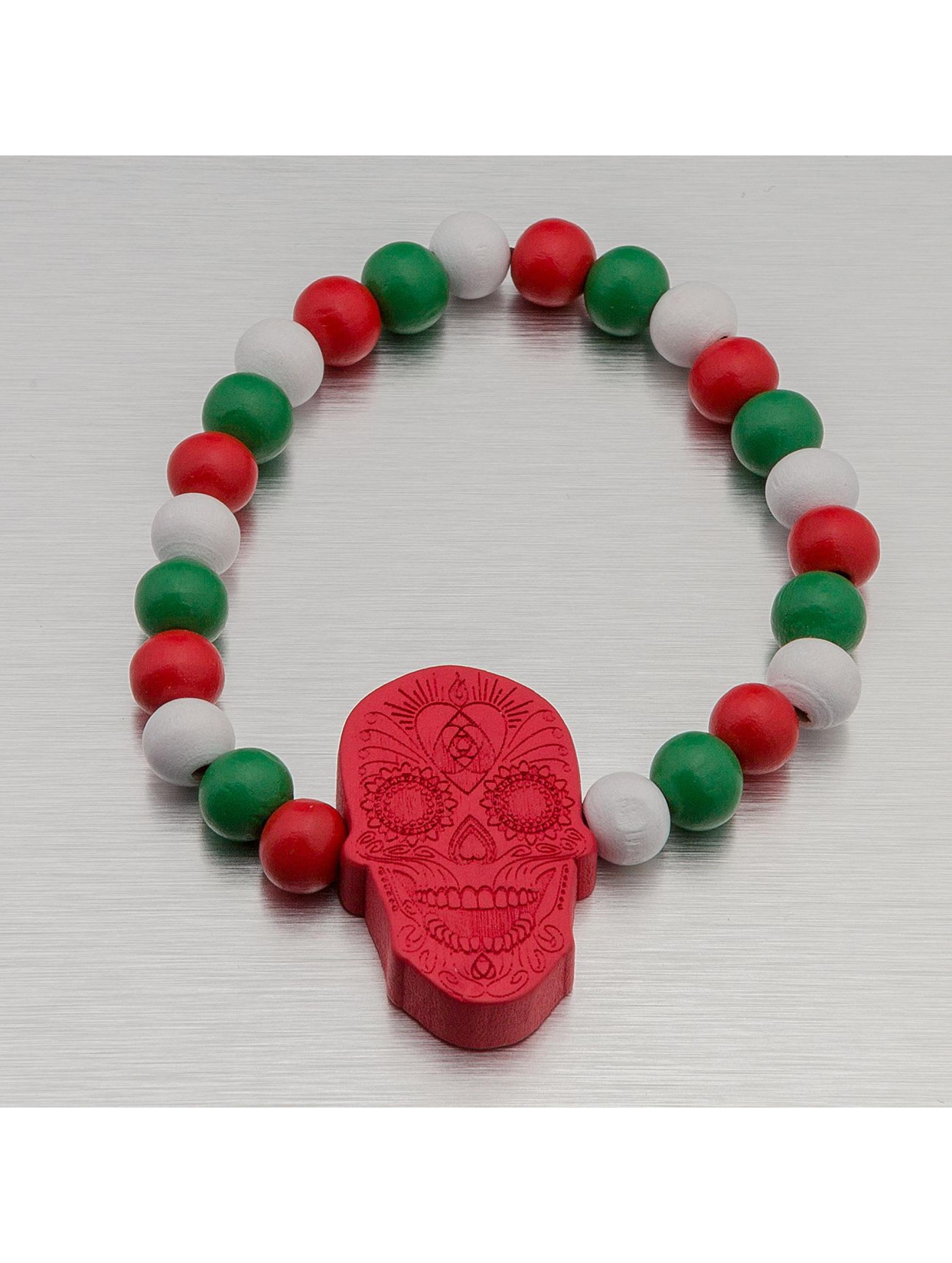 Wood Fellas Bracelet Mexican Skull rouge