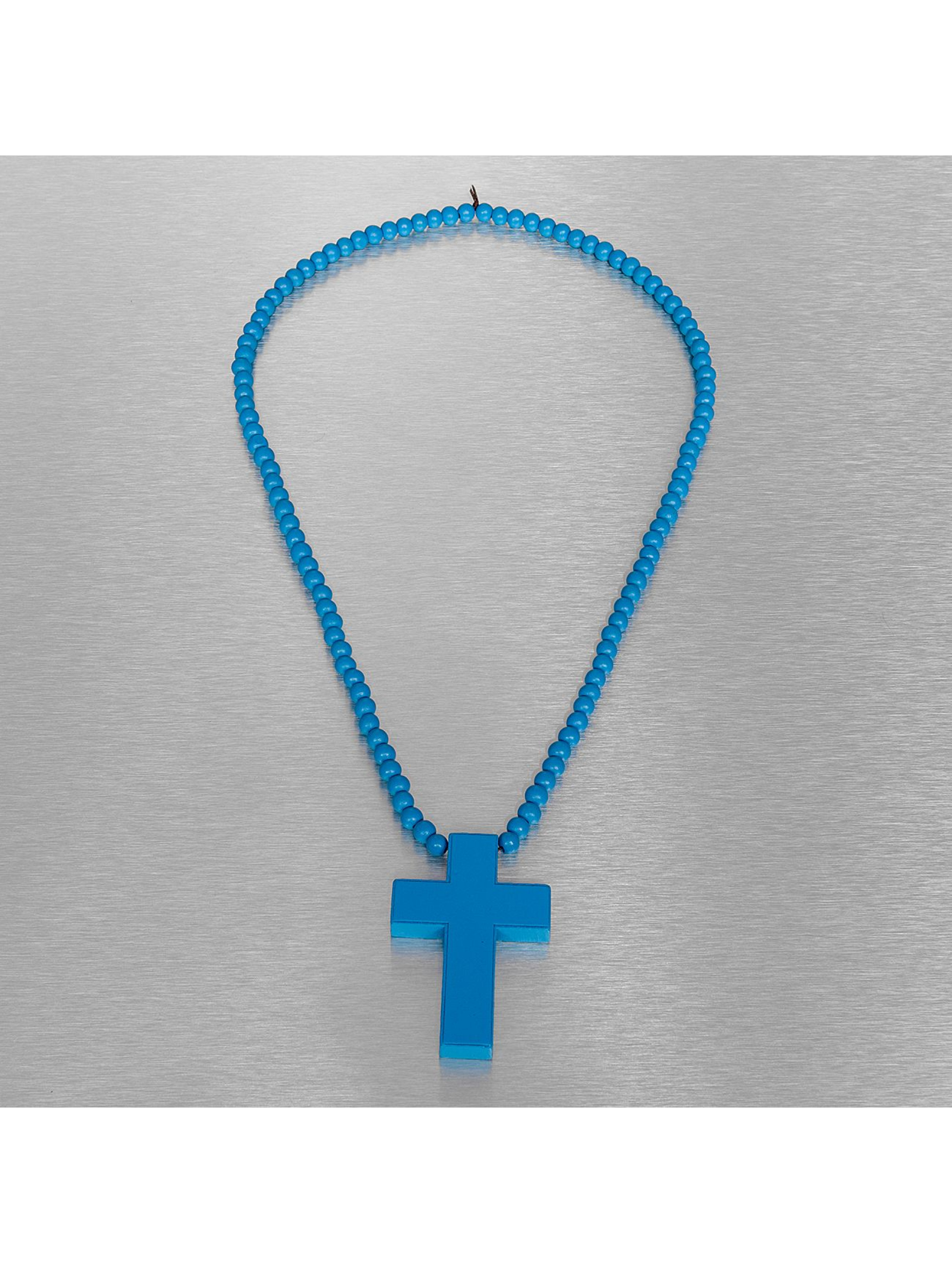 Wood Fellas Collier Wood Fellas Simple Cross bleu
