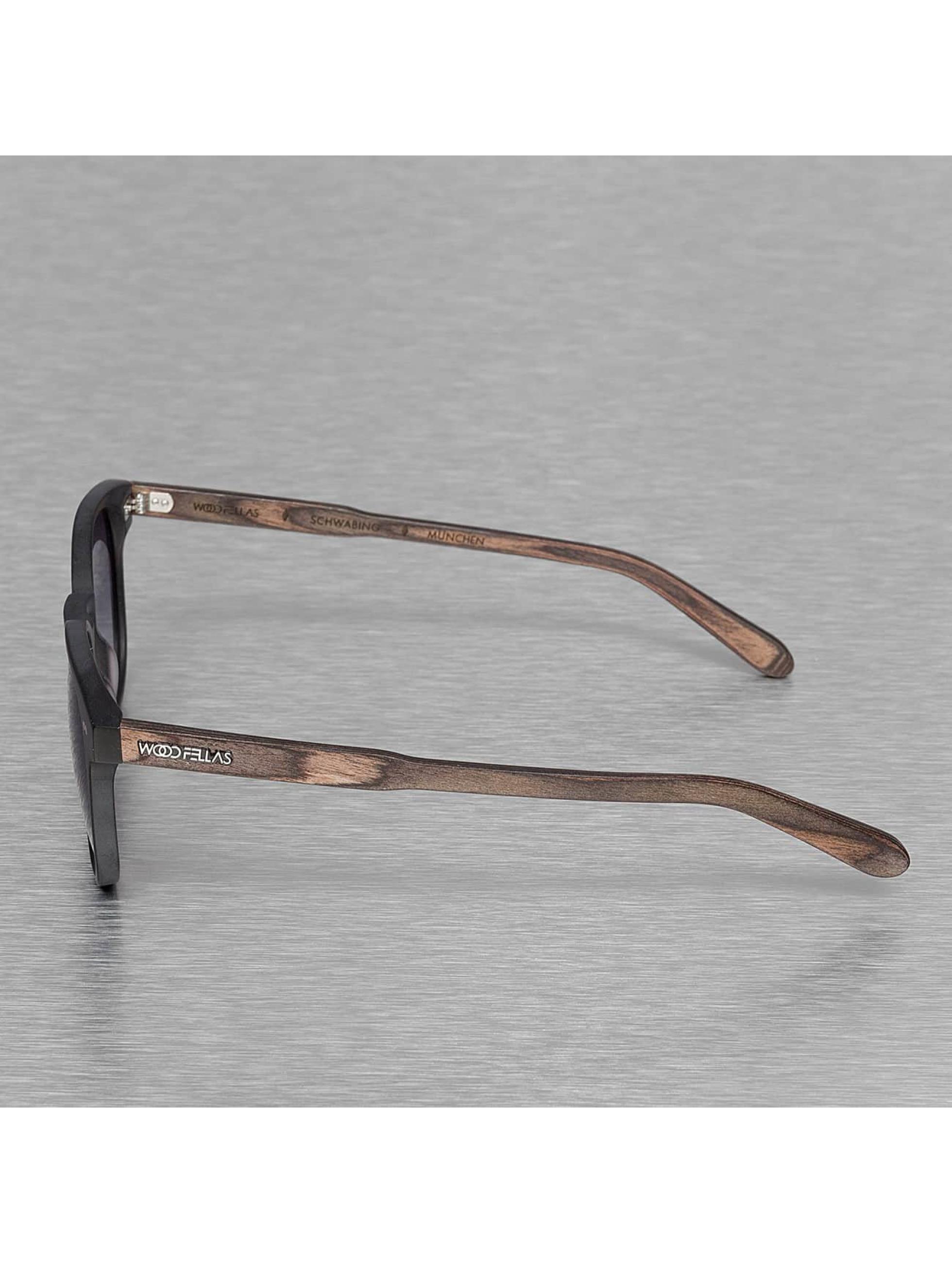 Wood Fellas Eyewear Lunettes de soleil Eyewear Schwabing Polarized Mirror noir