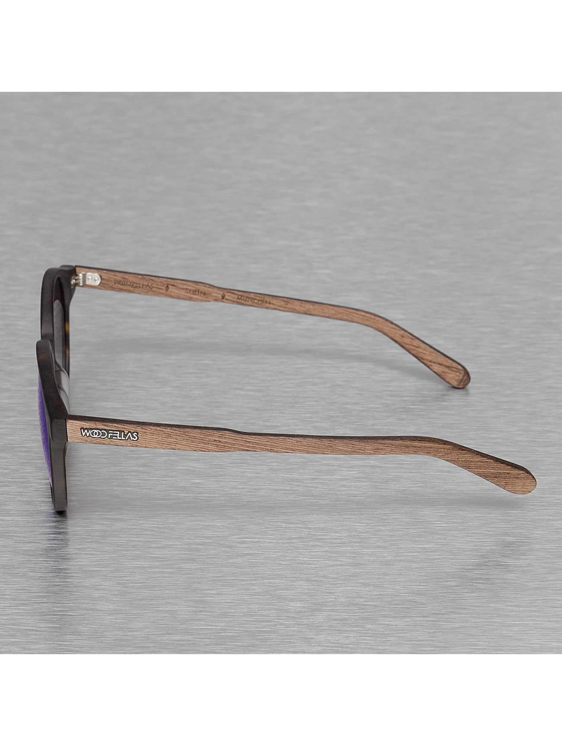 Wood Fellas Eyewear Okulary Eyewear Solln Polarized Mirror brazowy