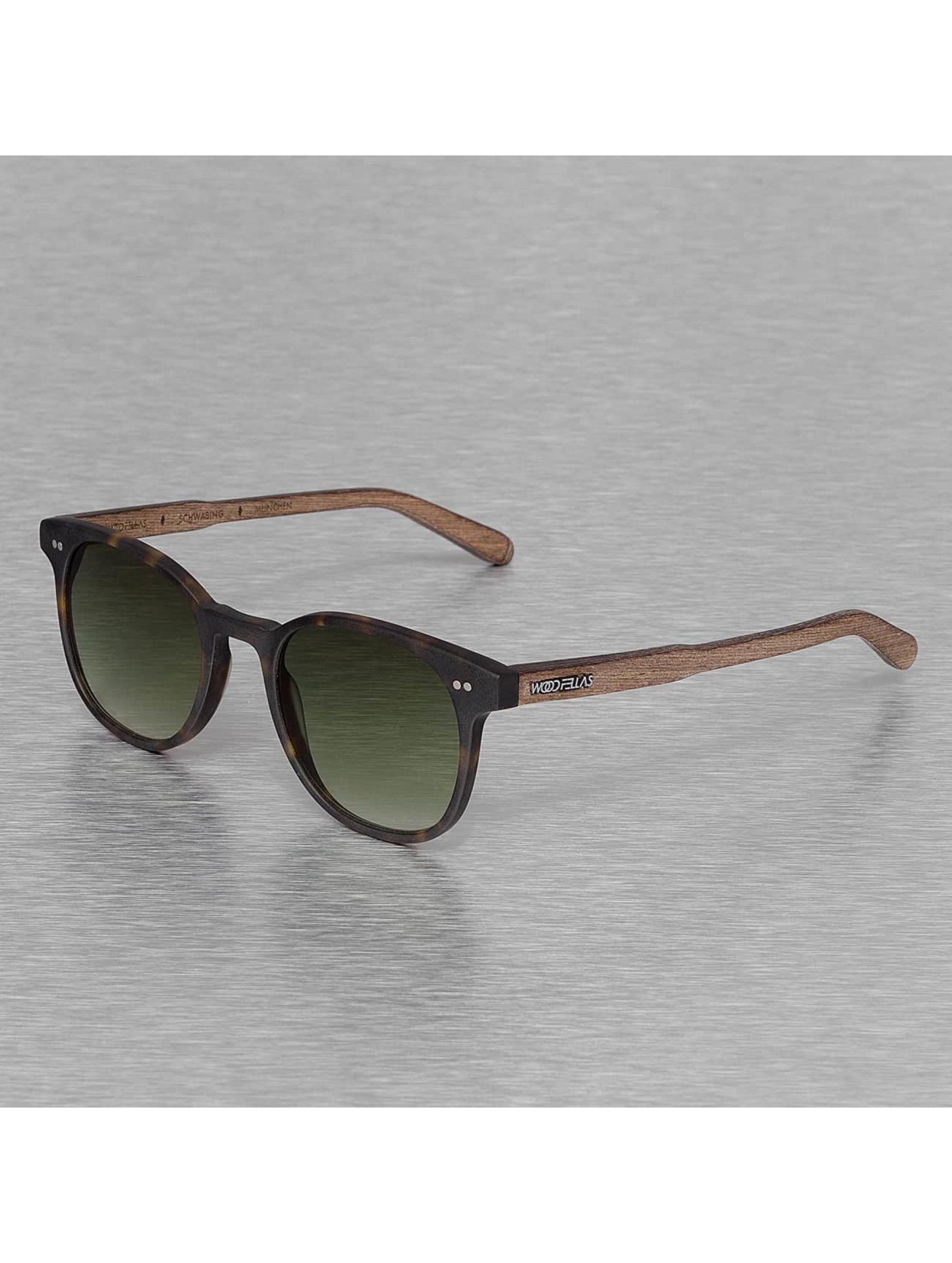 Wood Fellas Eyewear Okulary Eyewear Schwabing Polarized Mirror brazowy