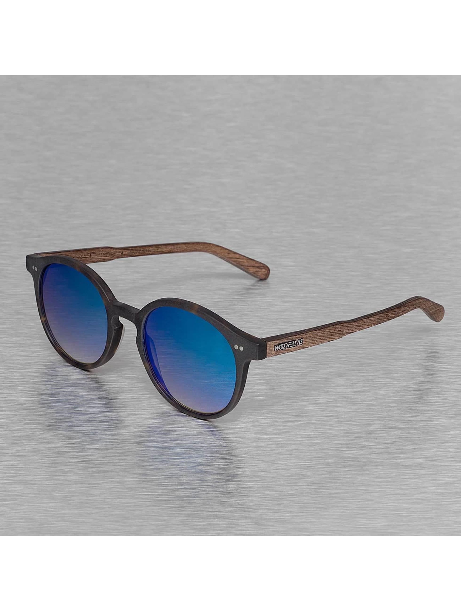 Wood Fellas Eyewear Solglasögon Eyewear Solln Polarized Mirror brun