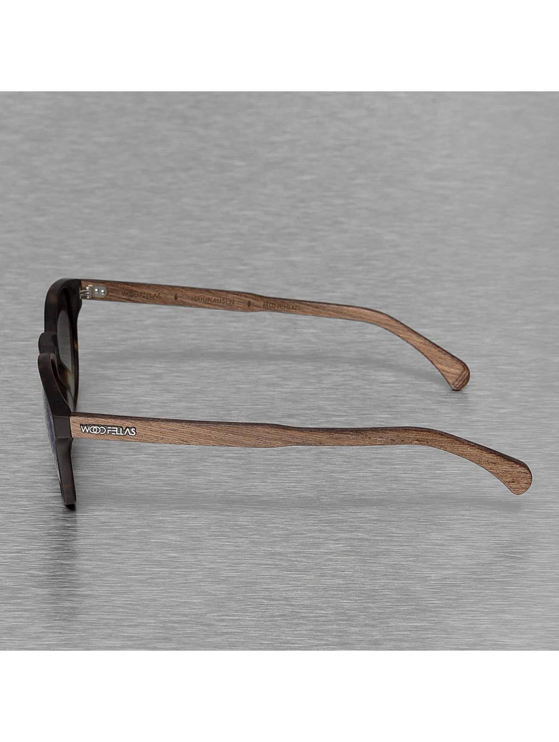 Wood Fellas Eyewear Sonnenbrille Eyewear Haidhausen Polarized Mirror braun