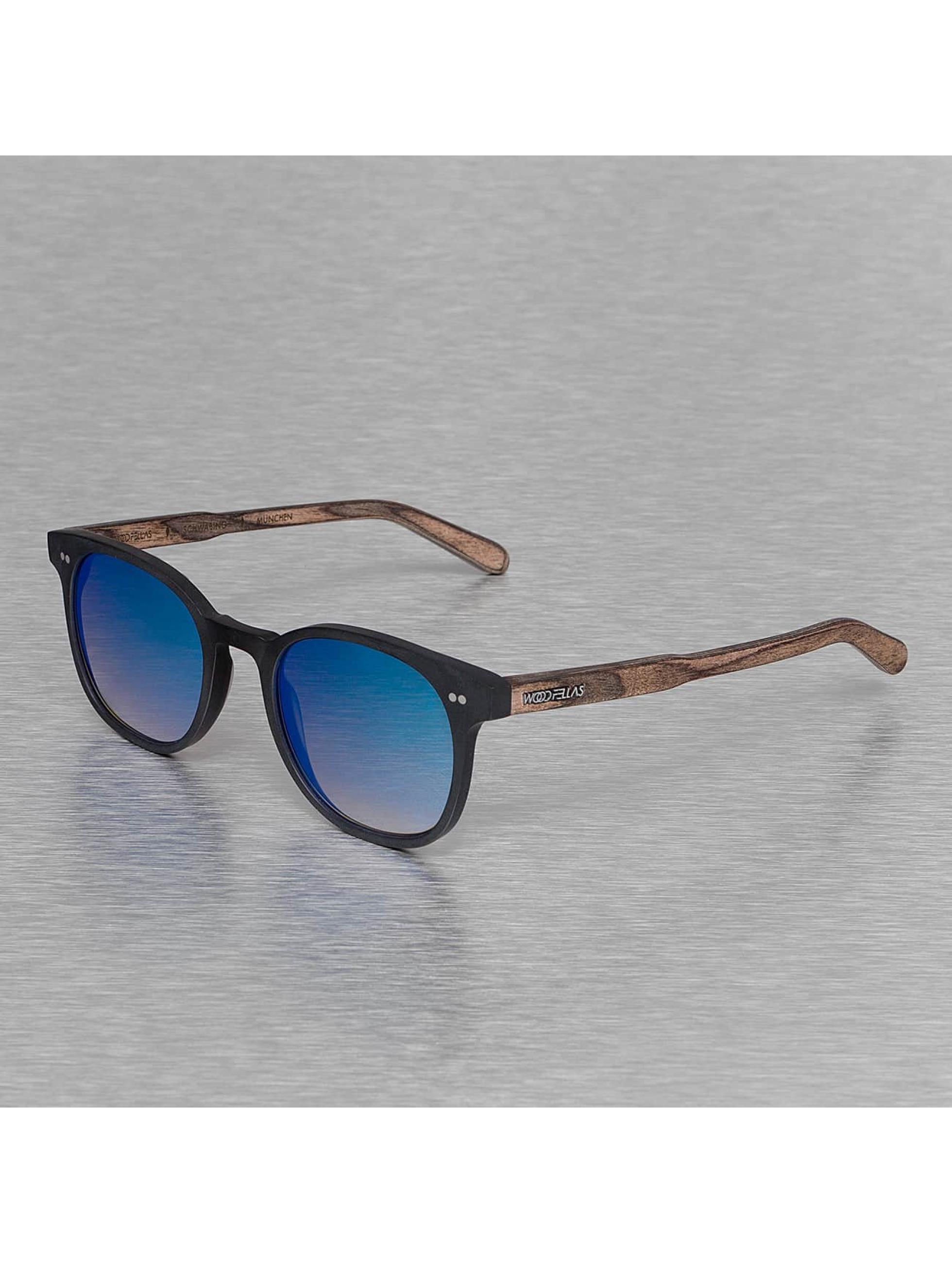 Wood Fellas Eyewear Sonnenbrille Eyewear Schwabing Polarized Mirror schwarz