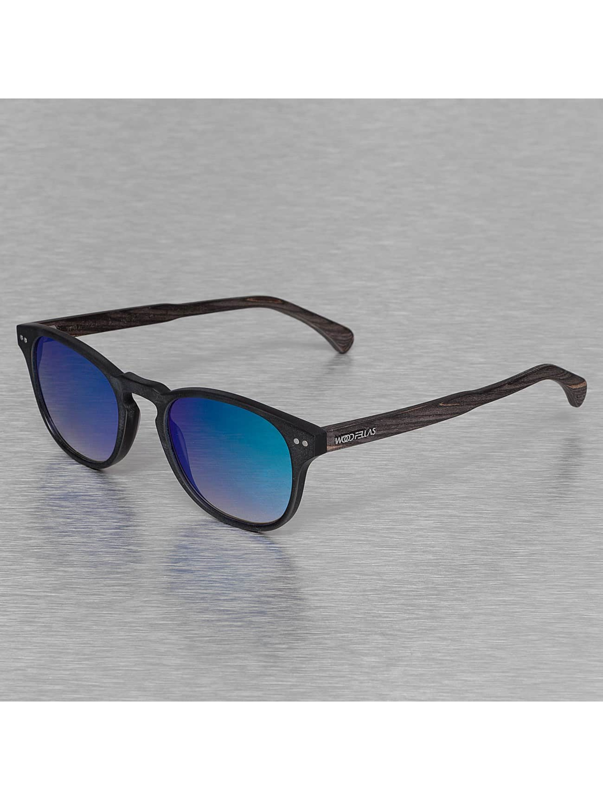 Wood Fellas Eyewear Sonnenbrille Eyewear Haidhausen Polarized Mirror schwarz