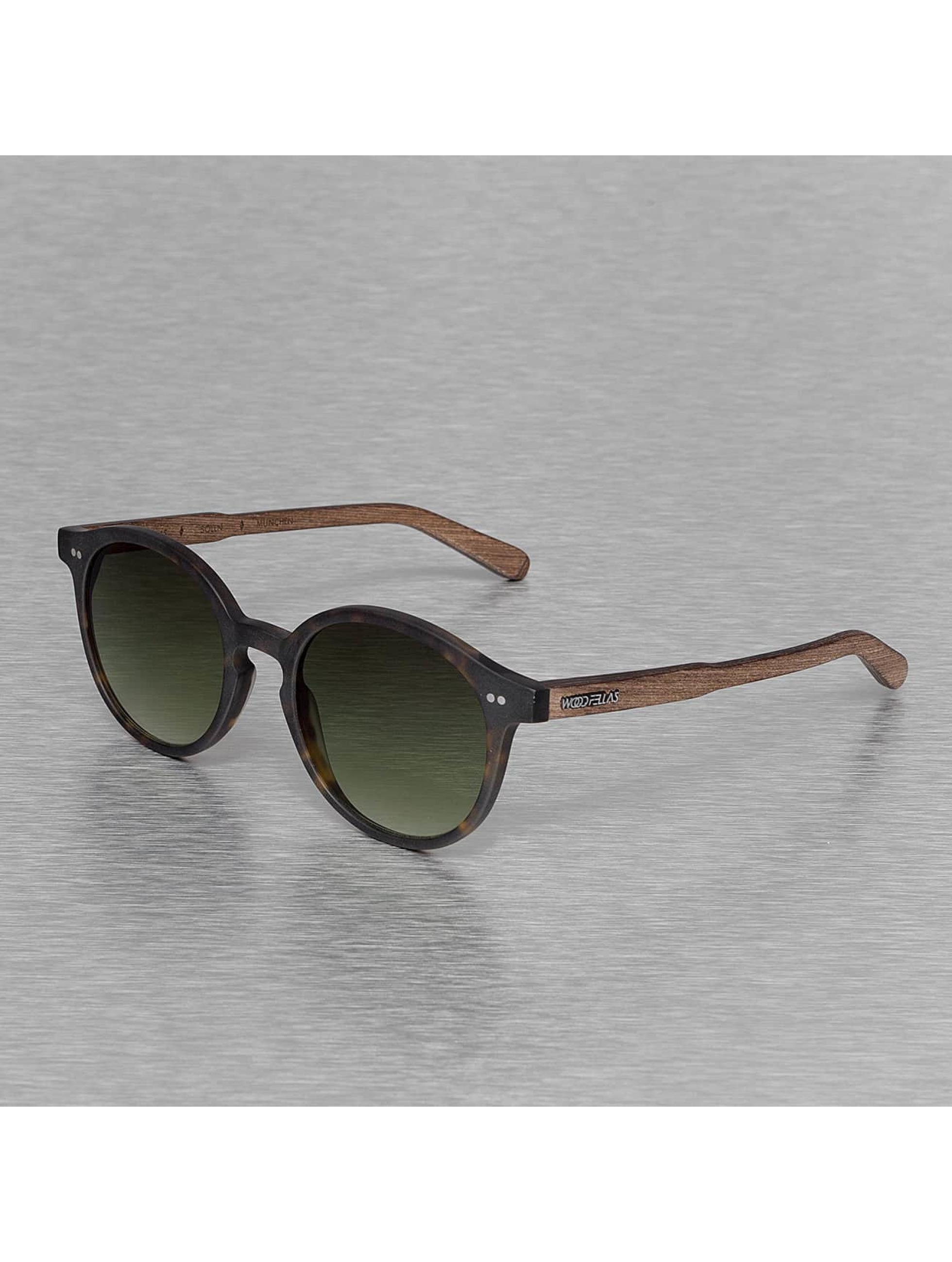 Wood Fellas Eyewear Zonnebril Eyewear Solln Polarized Mirror bruin