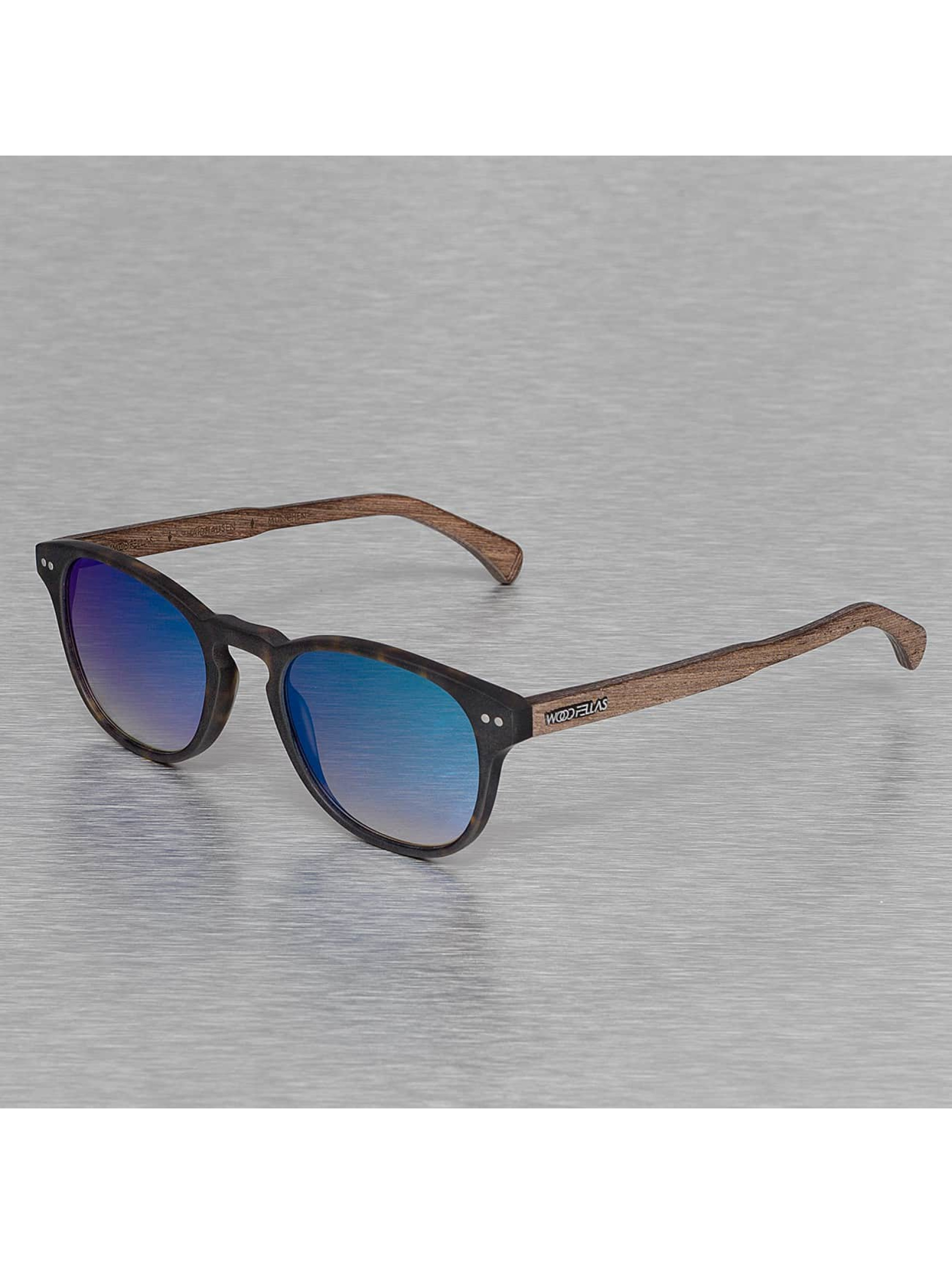 Wood Fellas Eyewear Zonnebril Eyewear Haidhausen Polarized Mirror bruin