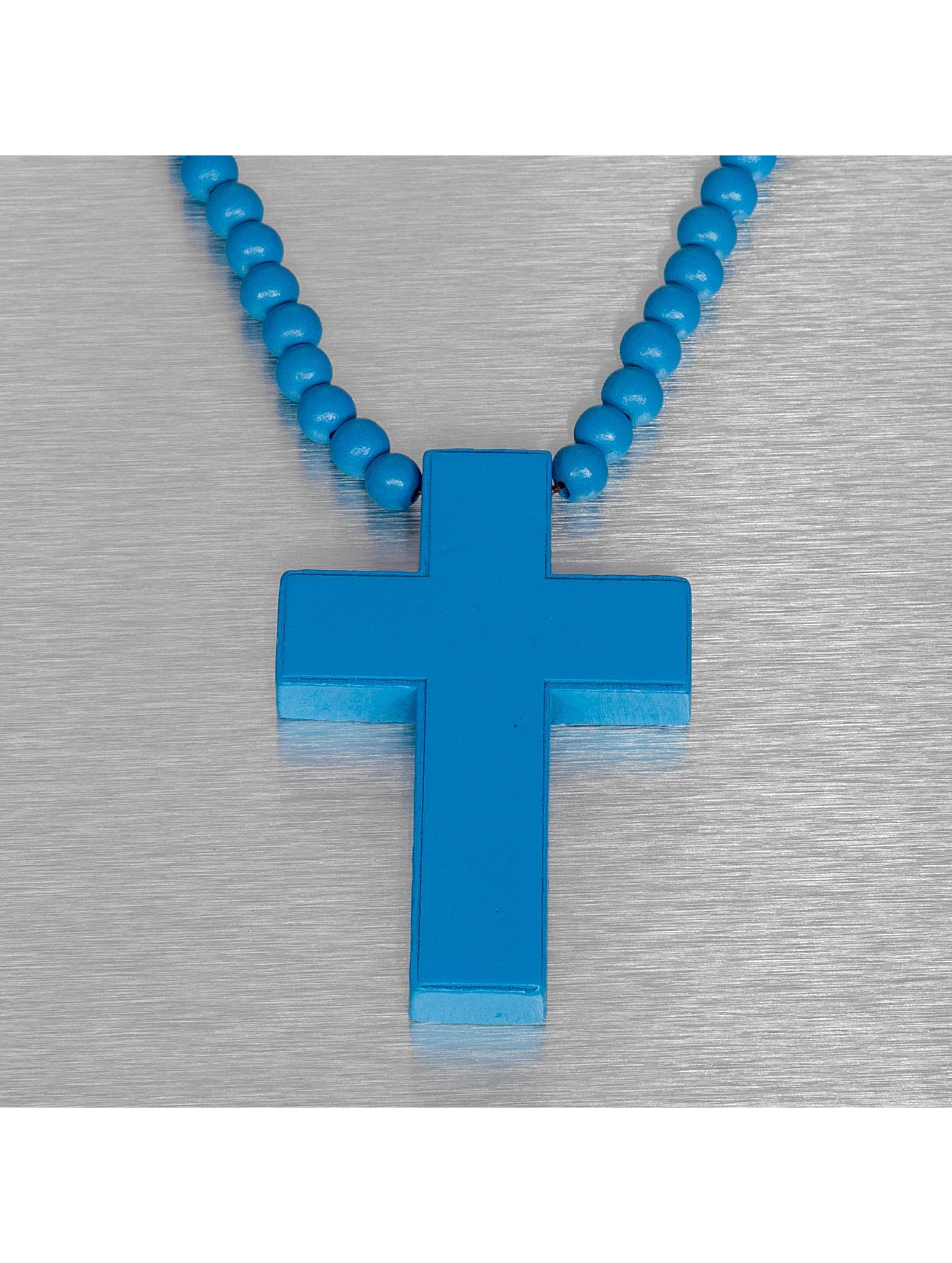 Wood Fellas Kaulaketjut Wood Fellas Simple Cross sininen