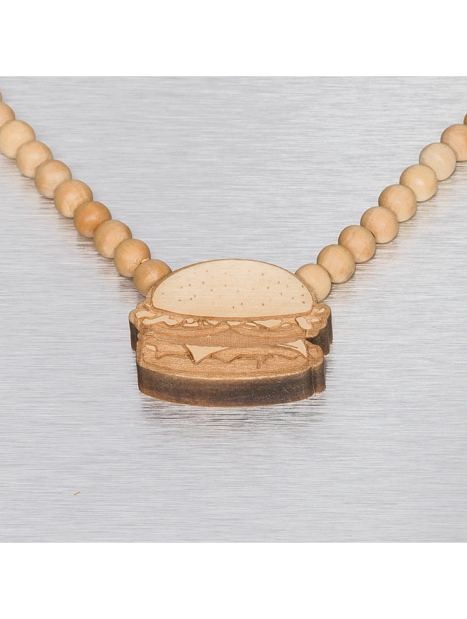 Wood Fellas ketting Burger beige