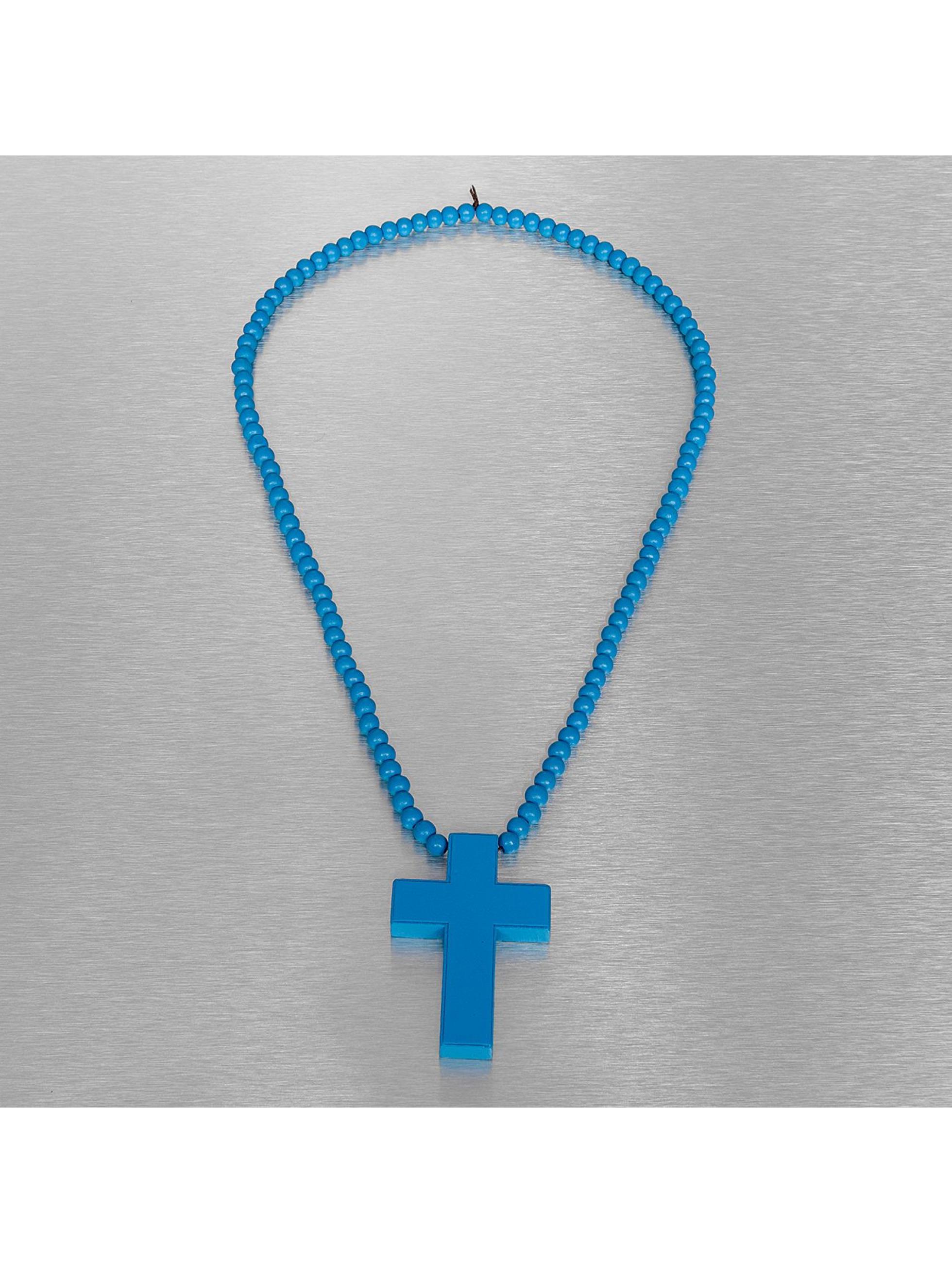 Wood Fellas ketting Wood Fellas Simple Cross blauw