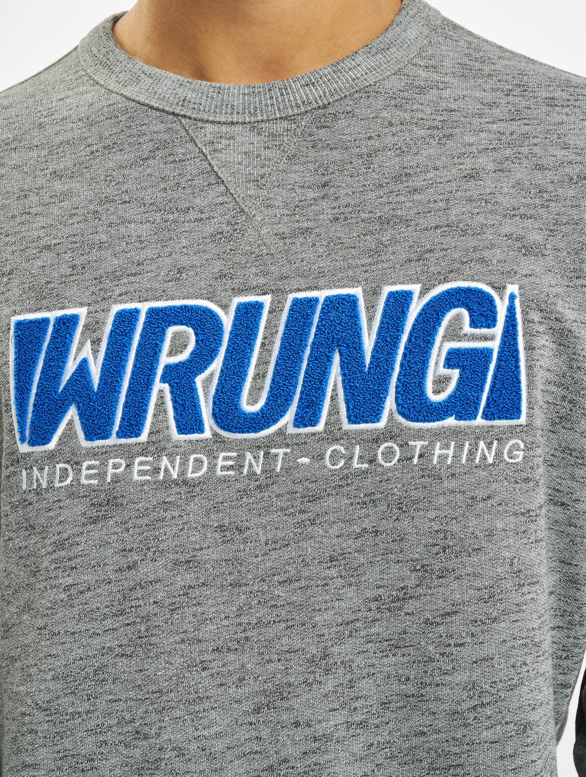 Wrung Division Пуловер Step серый