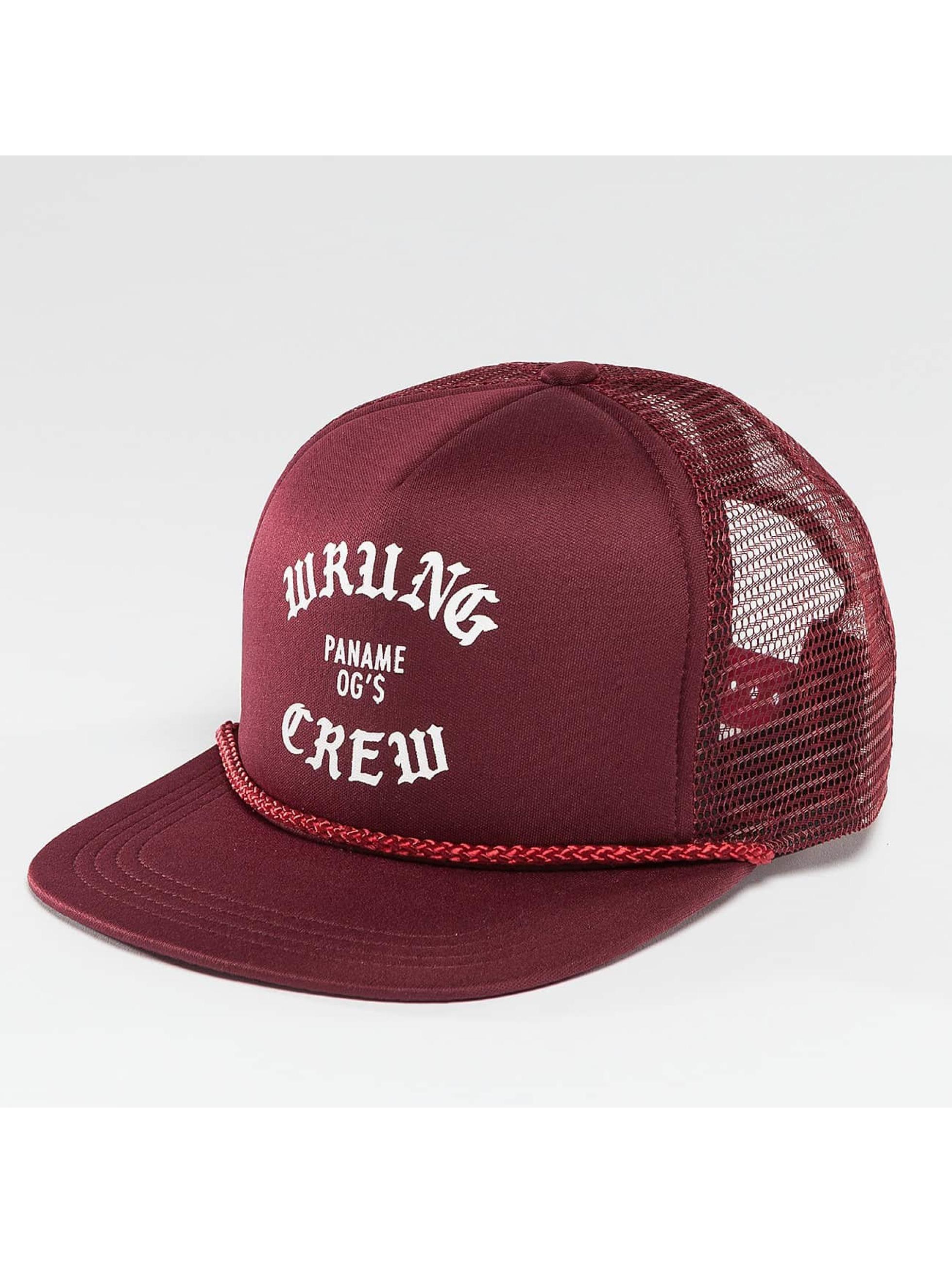 Wrung Division Casquette Trucker mesh Crew rouge
