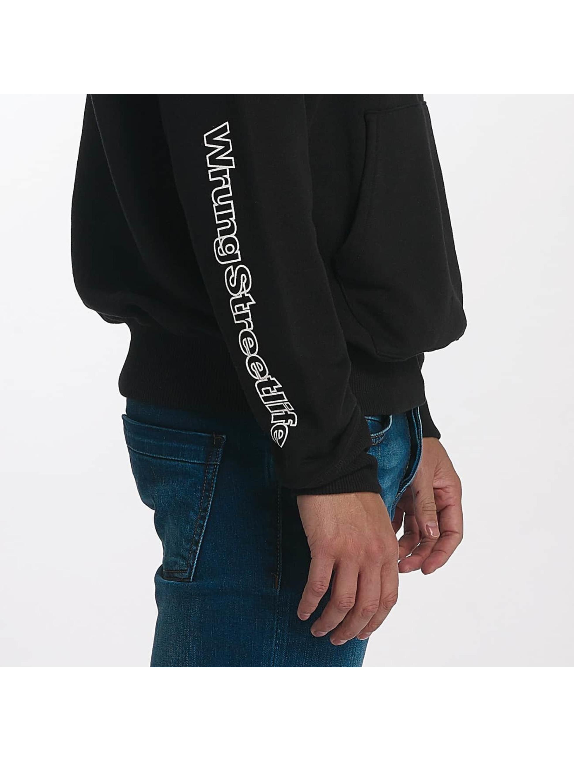 Wrung Division Hoodie Vintage Logo black