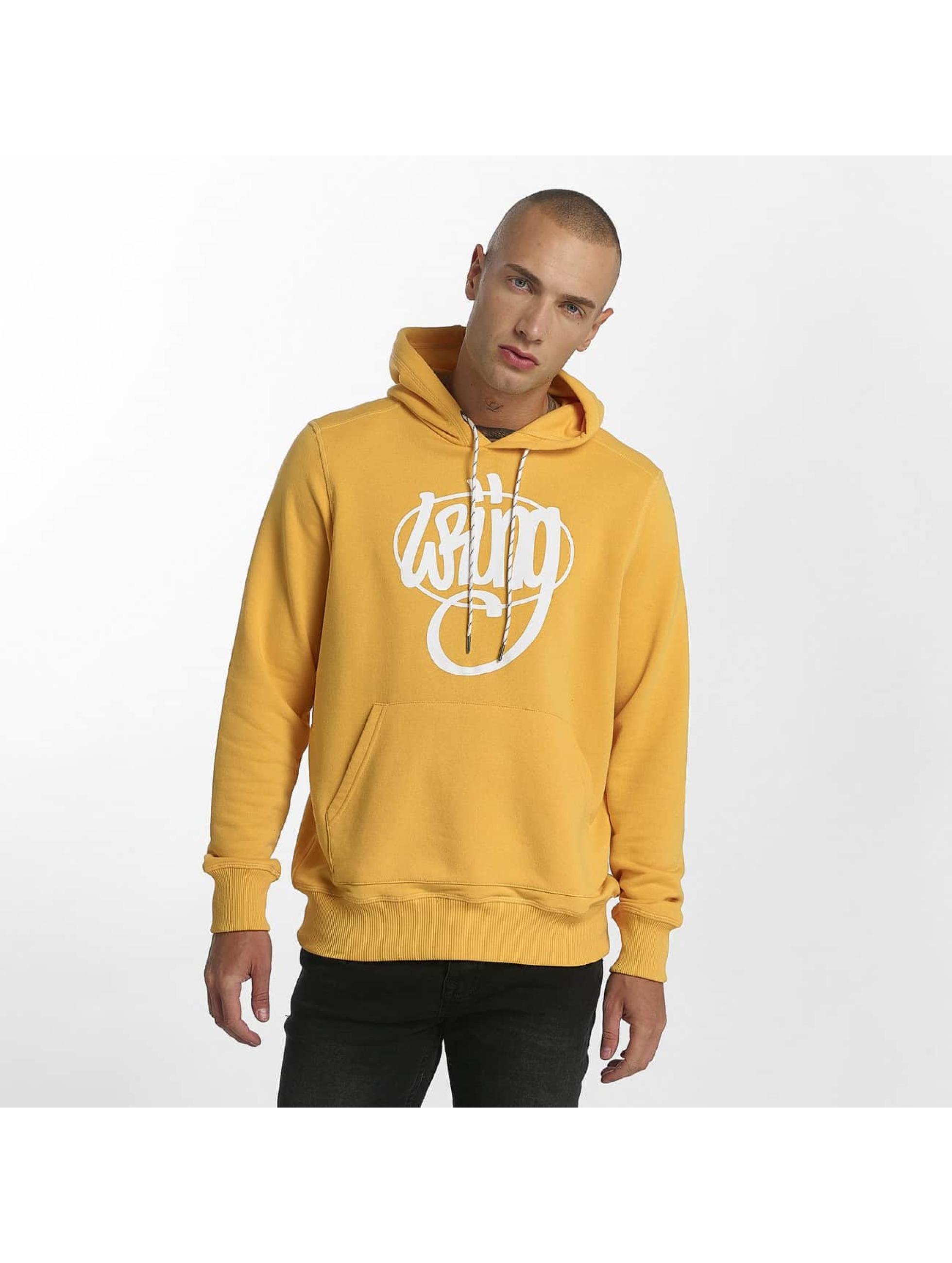 Wrung Division Hoody Vintage geel