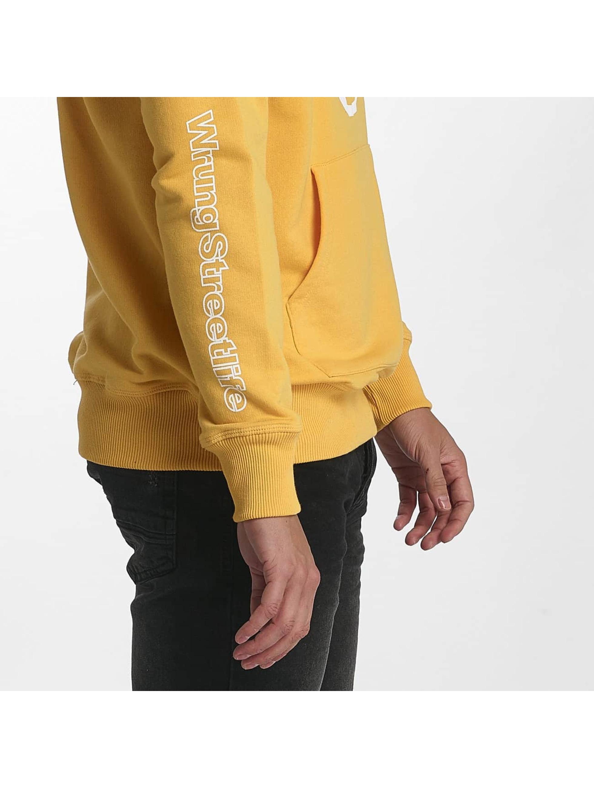 Wrung Division Hoody Vintage gelb
