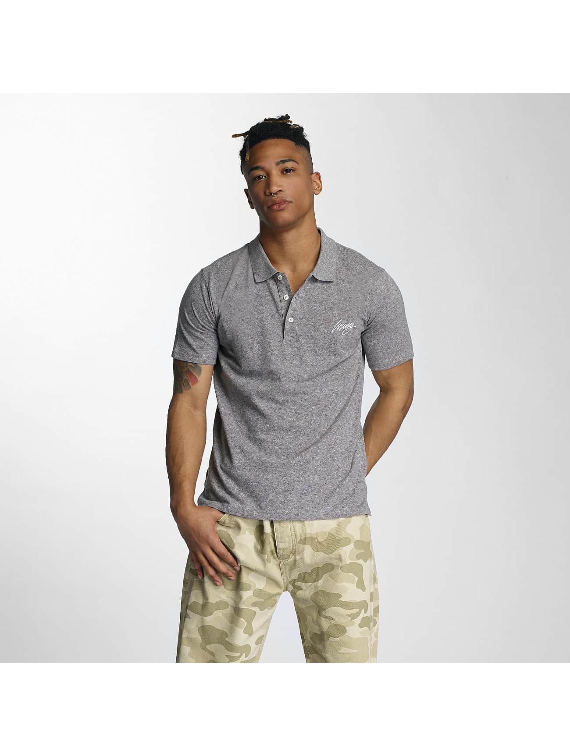 Wrung Division Poloshirt Signature grey