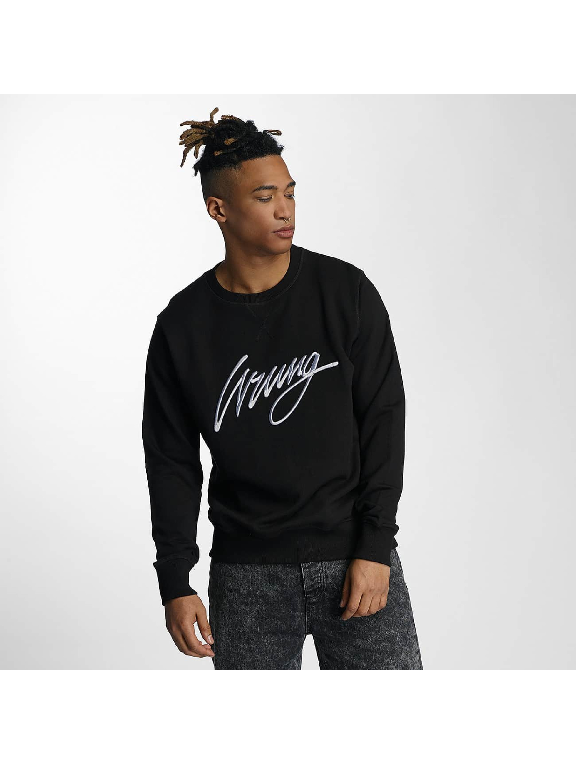 Wrung Division Pullover Sign black