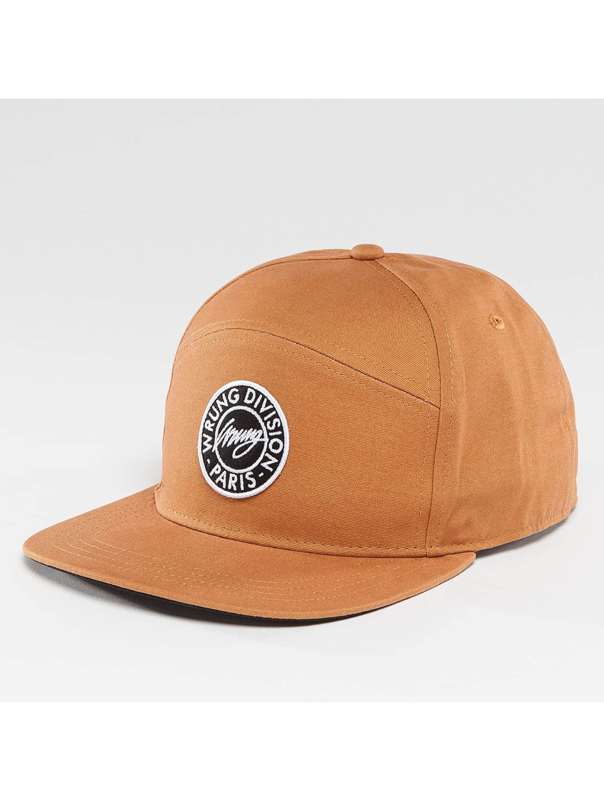 Wrung Division Snapback Caps Work brazowy