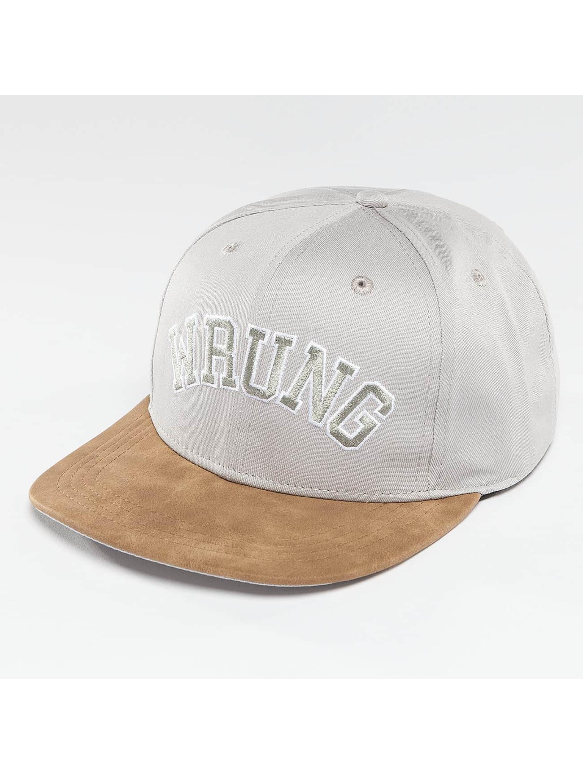 Wrung Division Snapback Caps Block grå